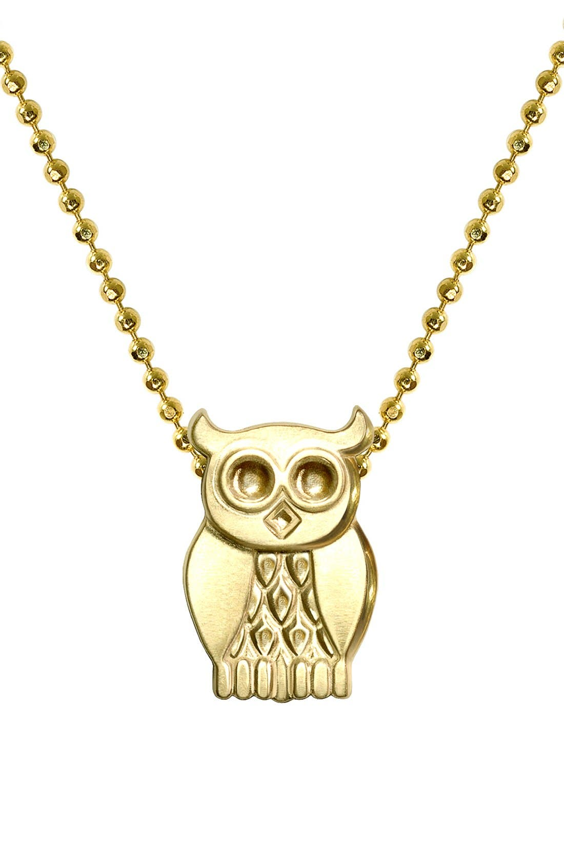Alternate Image 1 Selected - Alex Woo 'Little Seasons' Owl Pendant Necklace