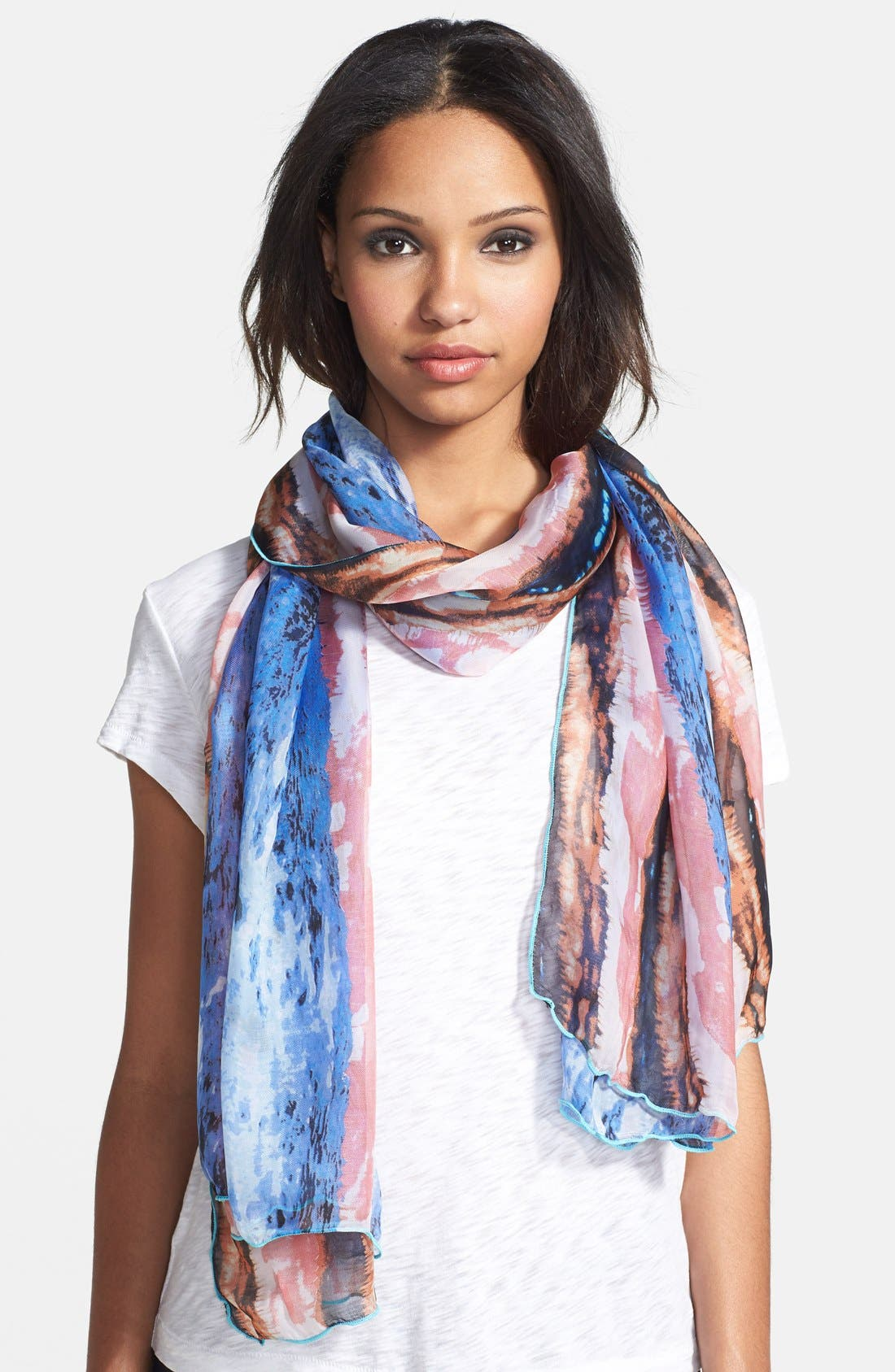 Alternate Image 1 Selected - Roffe Accessories Watercolor Scarf