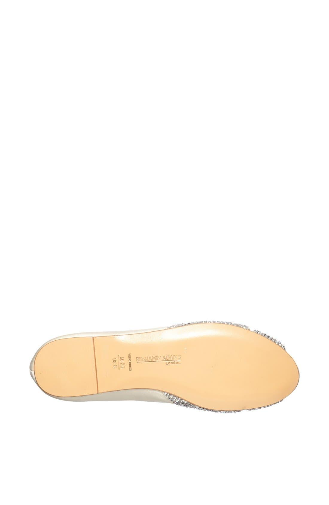 Alternate Image 4  - Benjamin Adams London 'Andie' Crystal Embellished Peep Toe Flat