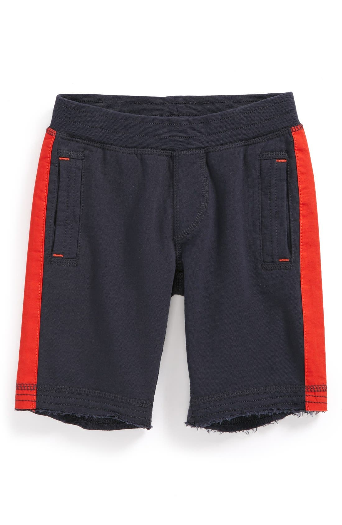 Main Image - Tea Collection Side Stripe Gym Shorts (Toddler Boys)