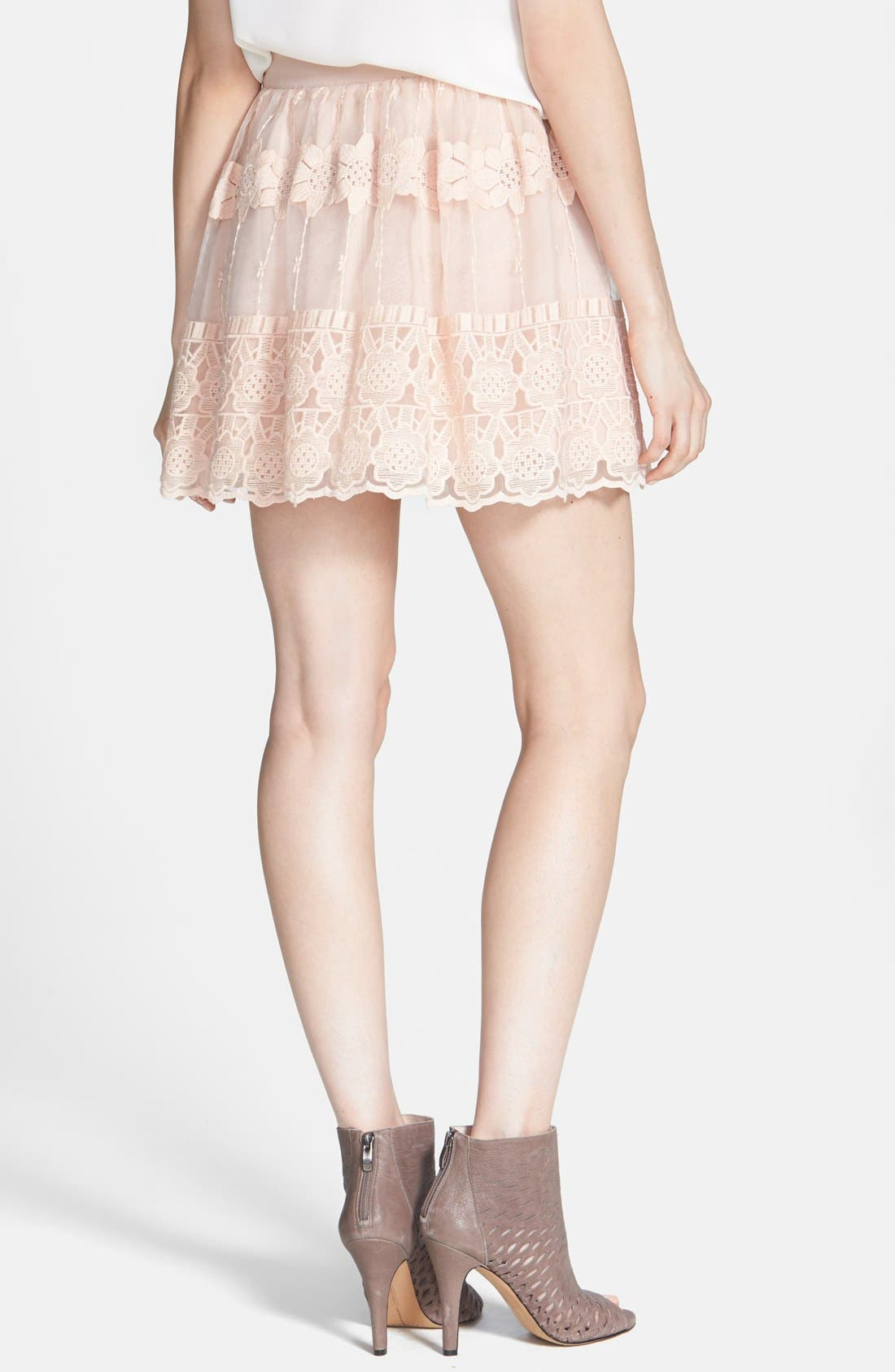 Alternate Image 2  - ASTR Embroidered Organza Skirt
