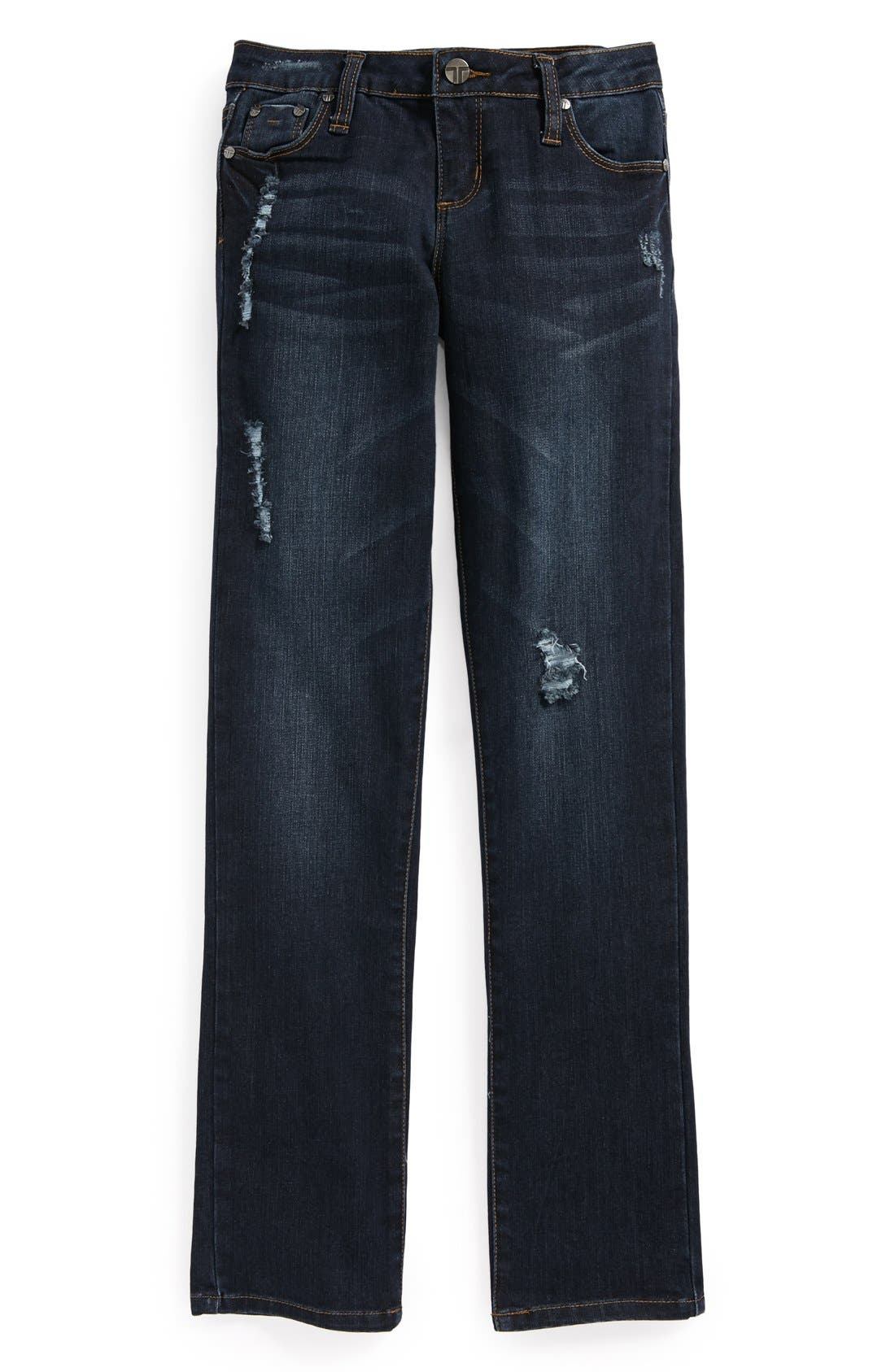 Alternate Image 2  - Tractr Boyfriend Jeans (Big Girls)