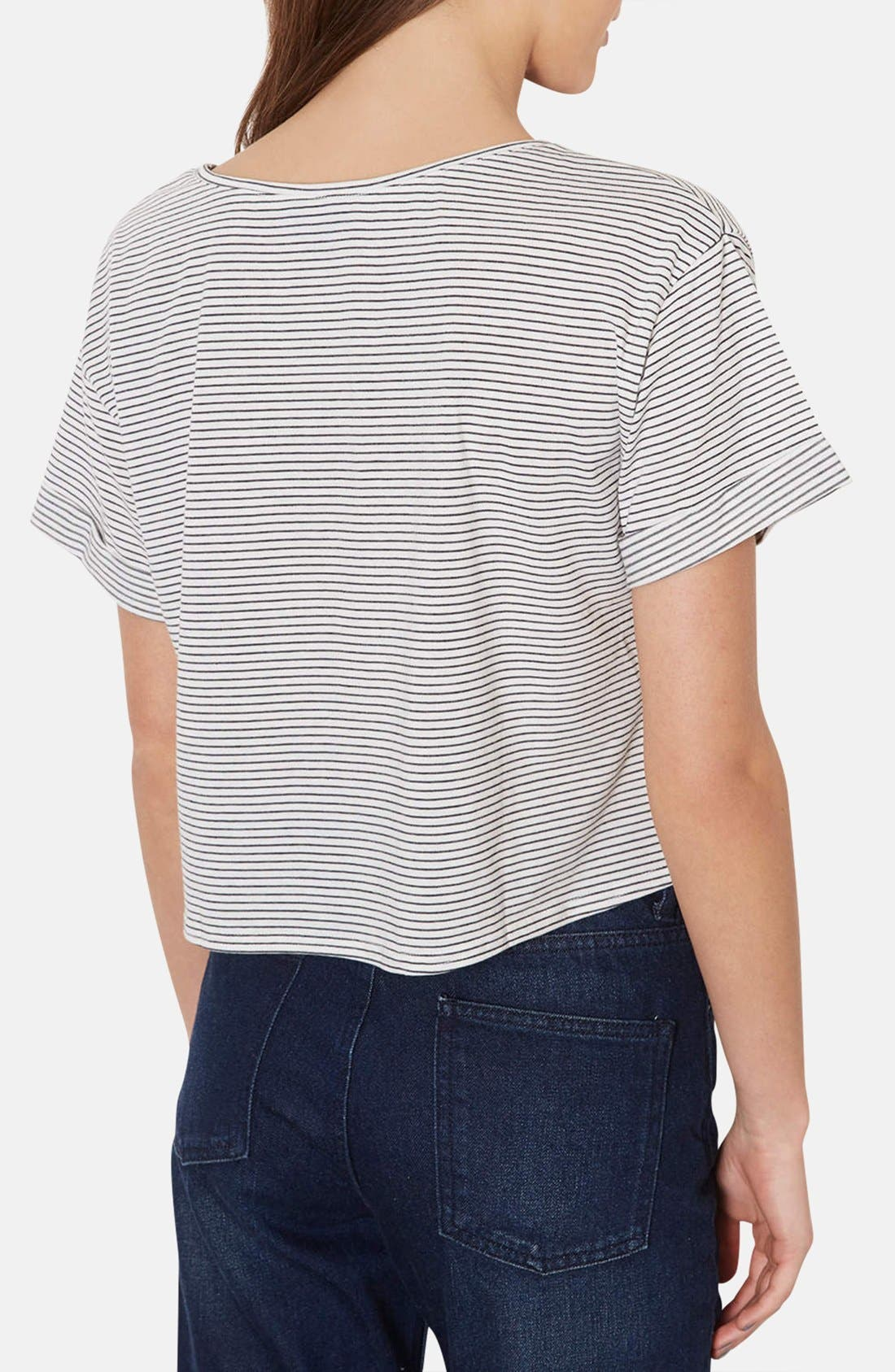 Alternate Image 2  - Topshop Cotton Crop Tee (Petite)