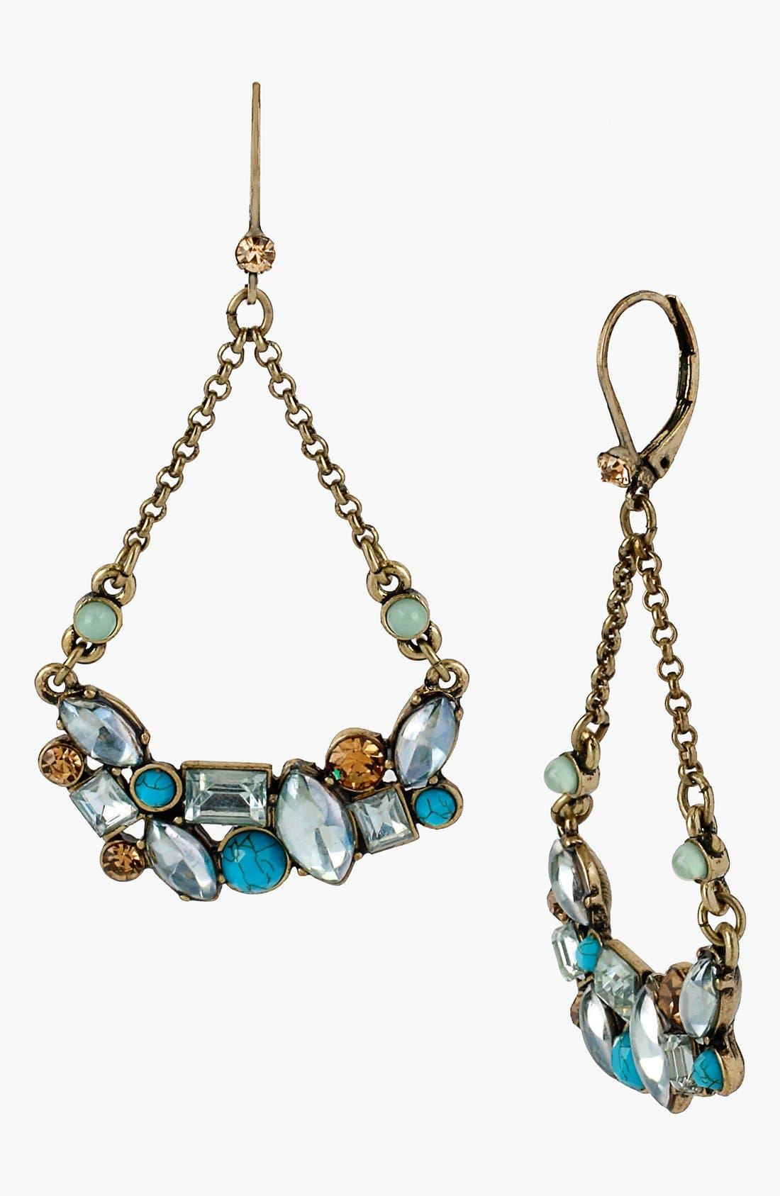 Main Image - Betsey Johnson 'Mint Multi' Cluster Drop Earrings