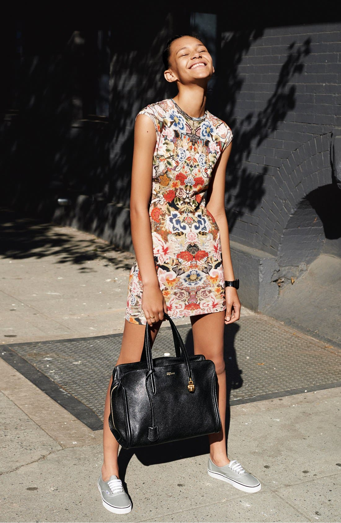 Alternate Image 4  - Alexander McQueen Patchwork Floral Print Dress