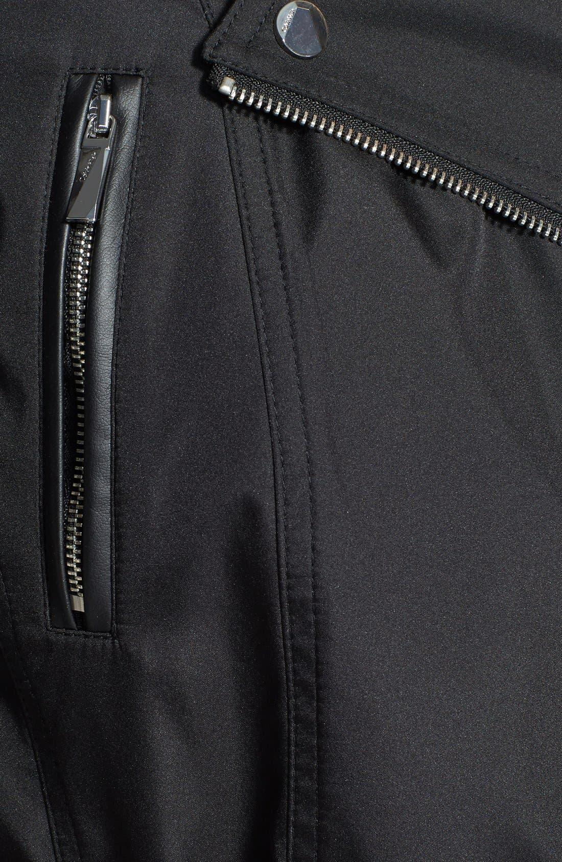 Alternate Image 3  - Calvin Klein Asymmetric Zip Trench Raincoat