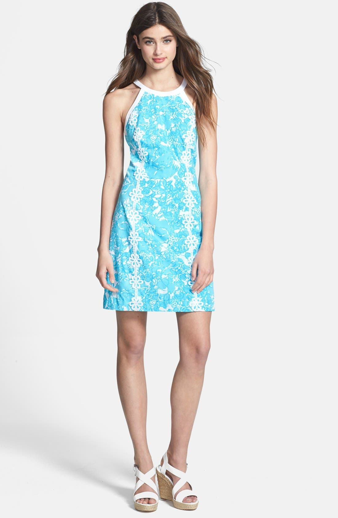 Main Image - Lilly Pulitzer 'Pearl' Lace Trim Shift Dress