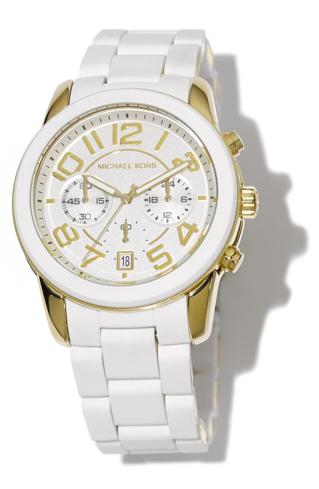 Alternate Image 5  - Michael Kors 'Mercer' Chronograph Silicone Strap Watch, 42mm