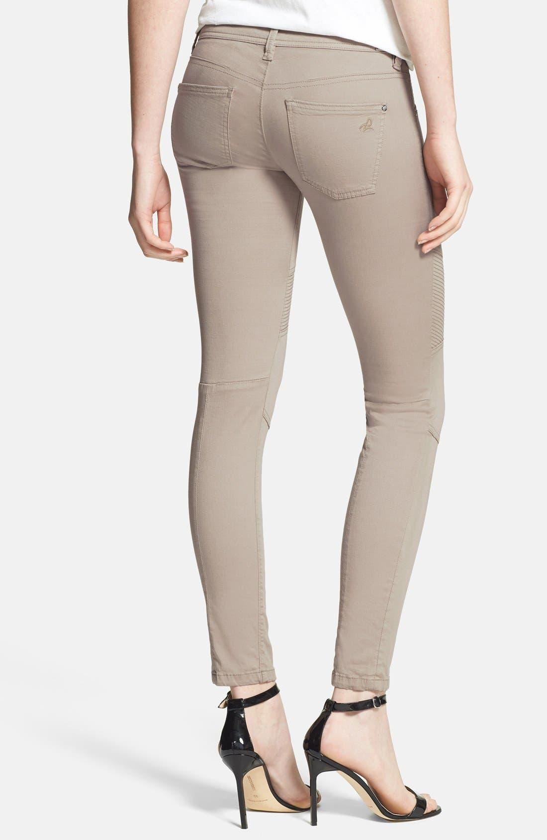 Alternate Image 2  - DL1961 'Harlow' Moto Crop Skinny Jeans (Morton)