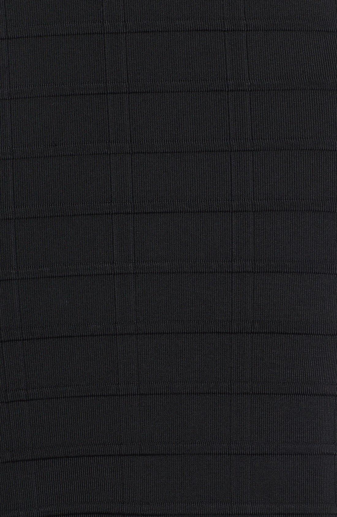 Alternate Image 3  - Vince Camuto Shadow Stripe Grid Stitch Sweater Dress