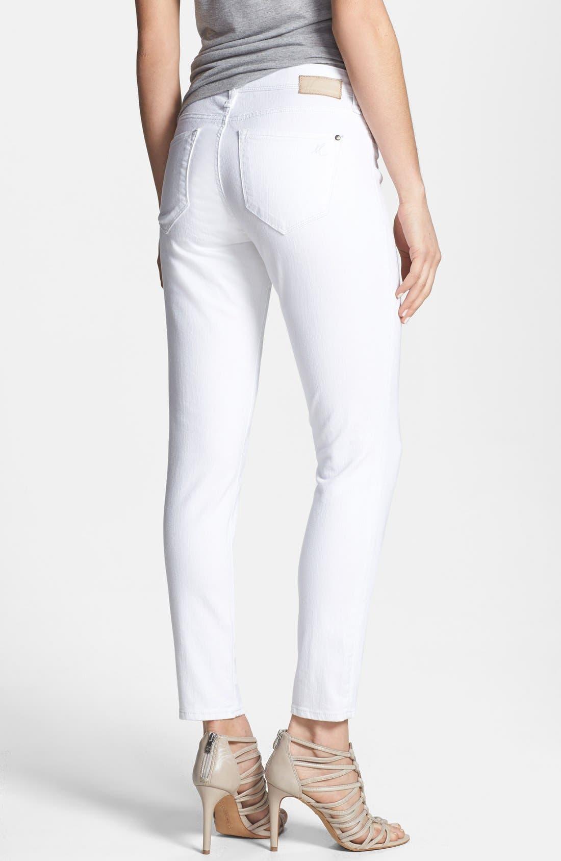 Alternate Image 2  - Mavi Jeans 'Alexa' Stretch Ankle Skinny Jeans (White Nolita)