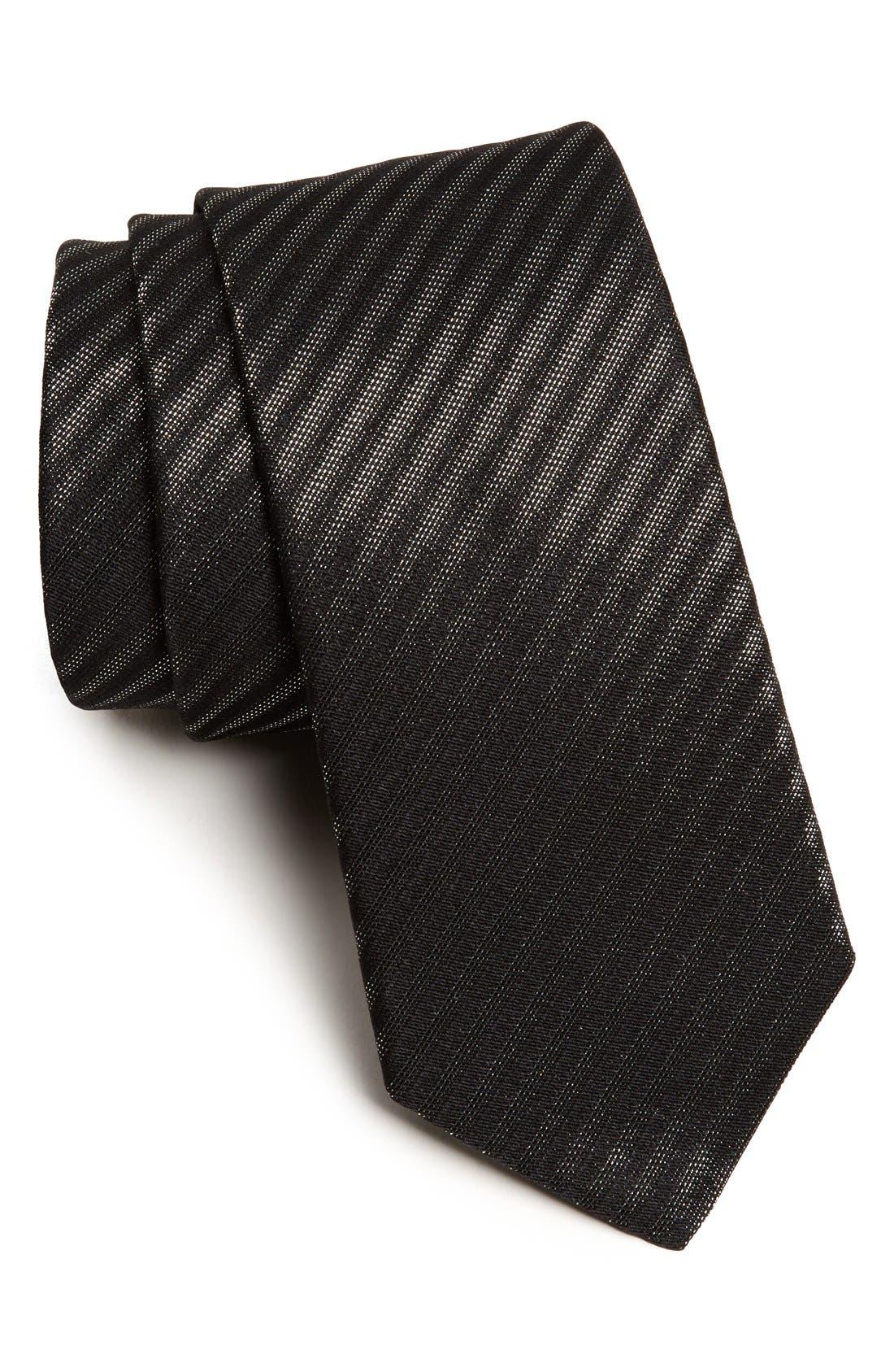 Main Image - Yves Saint Laurent Woven Silk Blend Tie