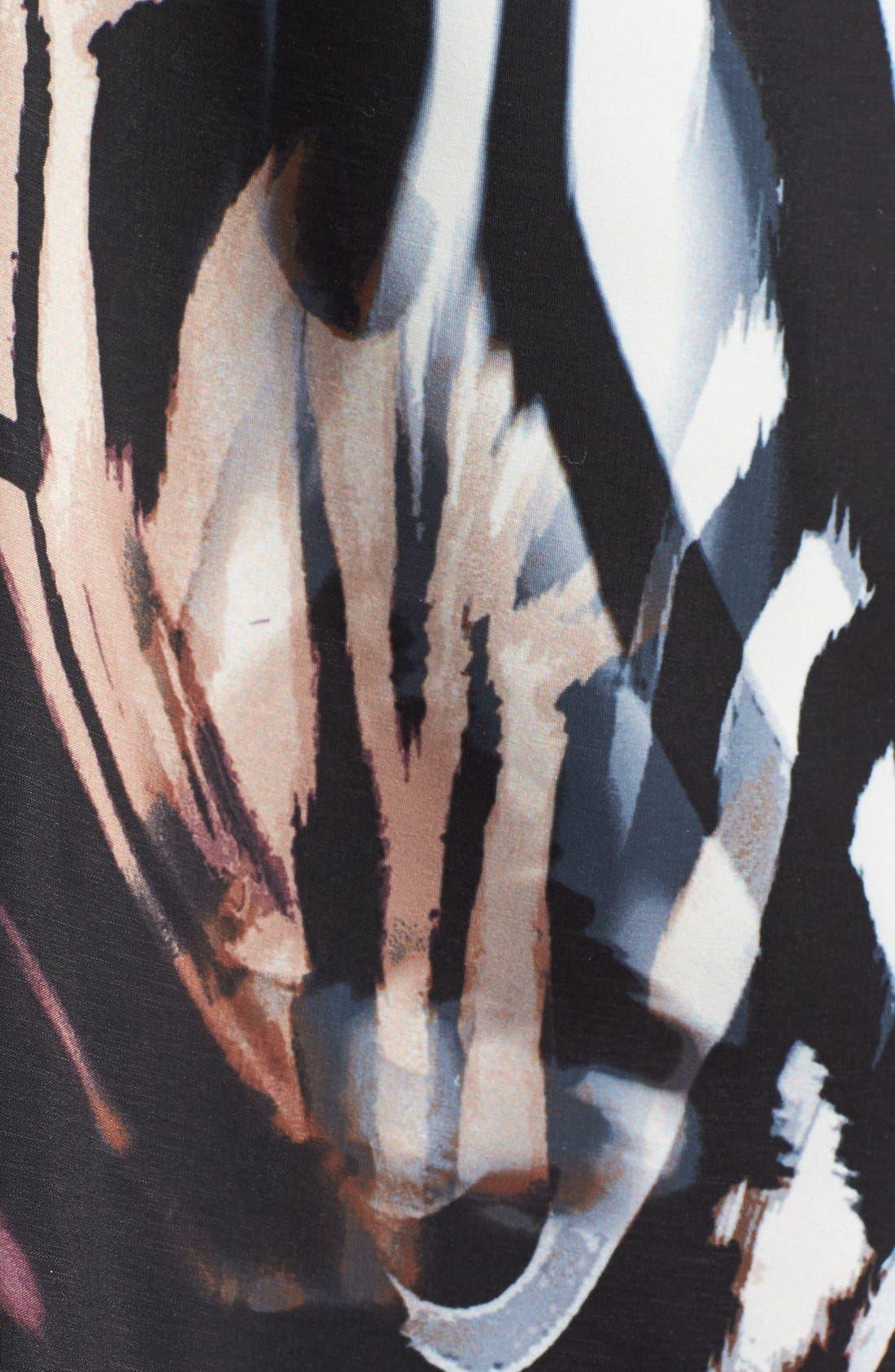 Alternate Image 3  - June & Hudson Print V-Back Slipdress
