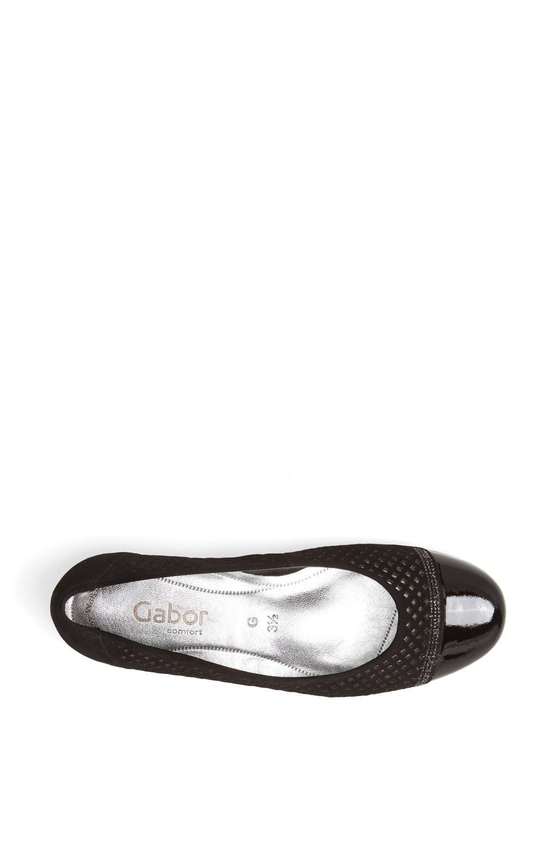 Alternate Image 3  - Gabor Leather Ballet Flat