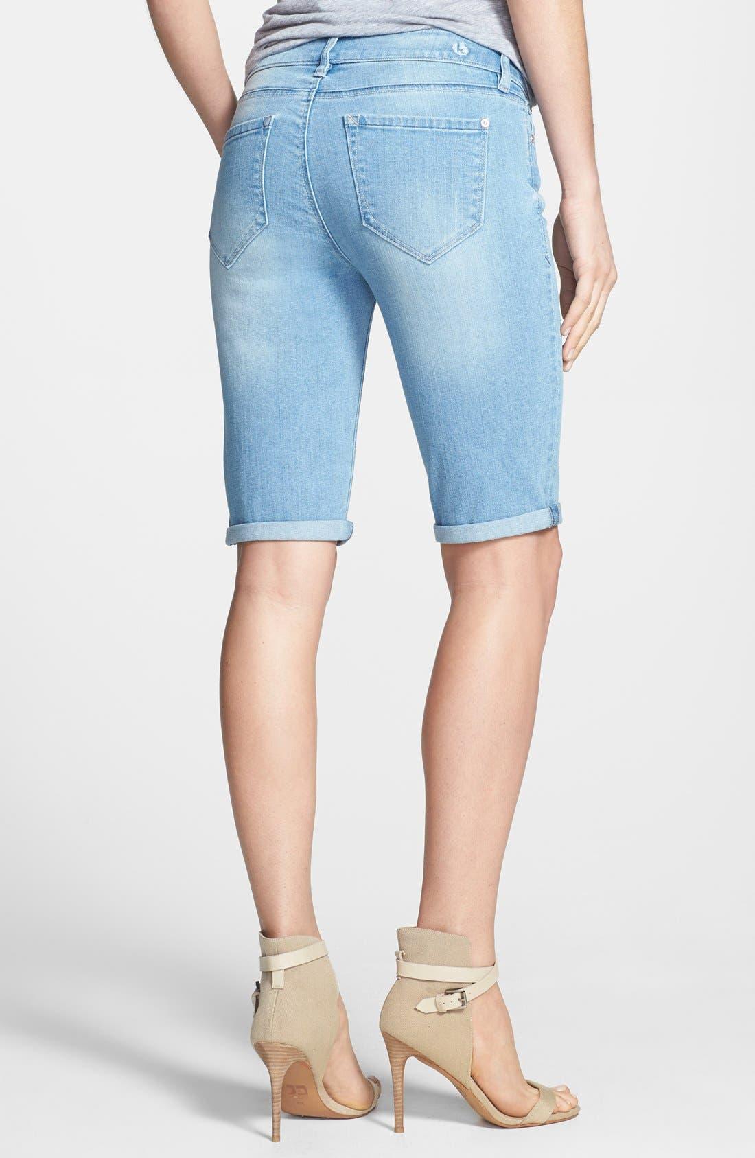 Alternate Image 2  - kensie Denim Bermuda Shorts