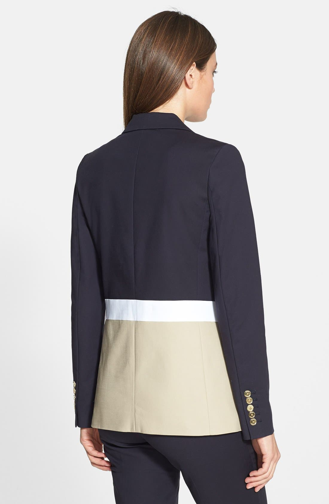 Alternate Image 2  - MICHAEL Michael Kors Colorblock Two-Button Blazer (Petite)