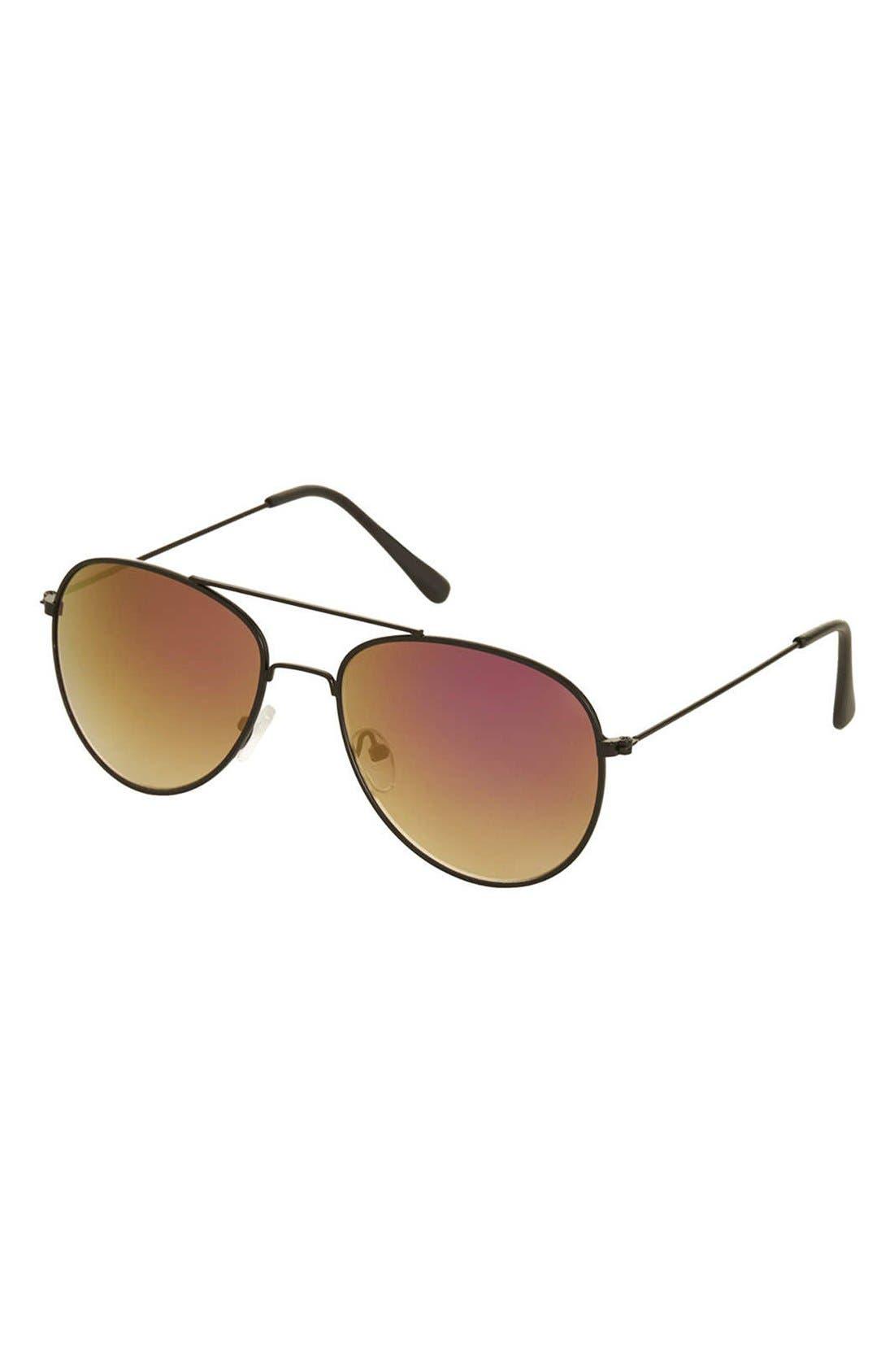 Main Image - Topshop 'Alice' Aviator Sunglasses