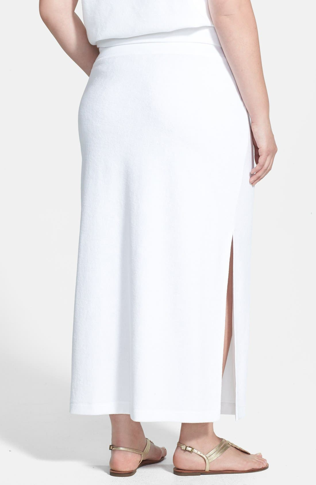 Alternate Image 2  - MICHAEL Michael Kors French Terry Maxi Skirt (Plus Size)