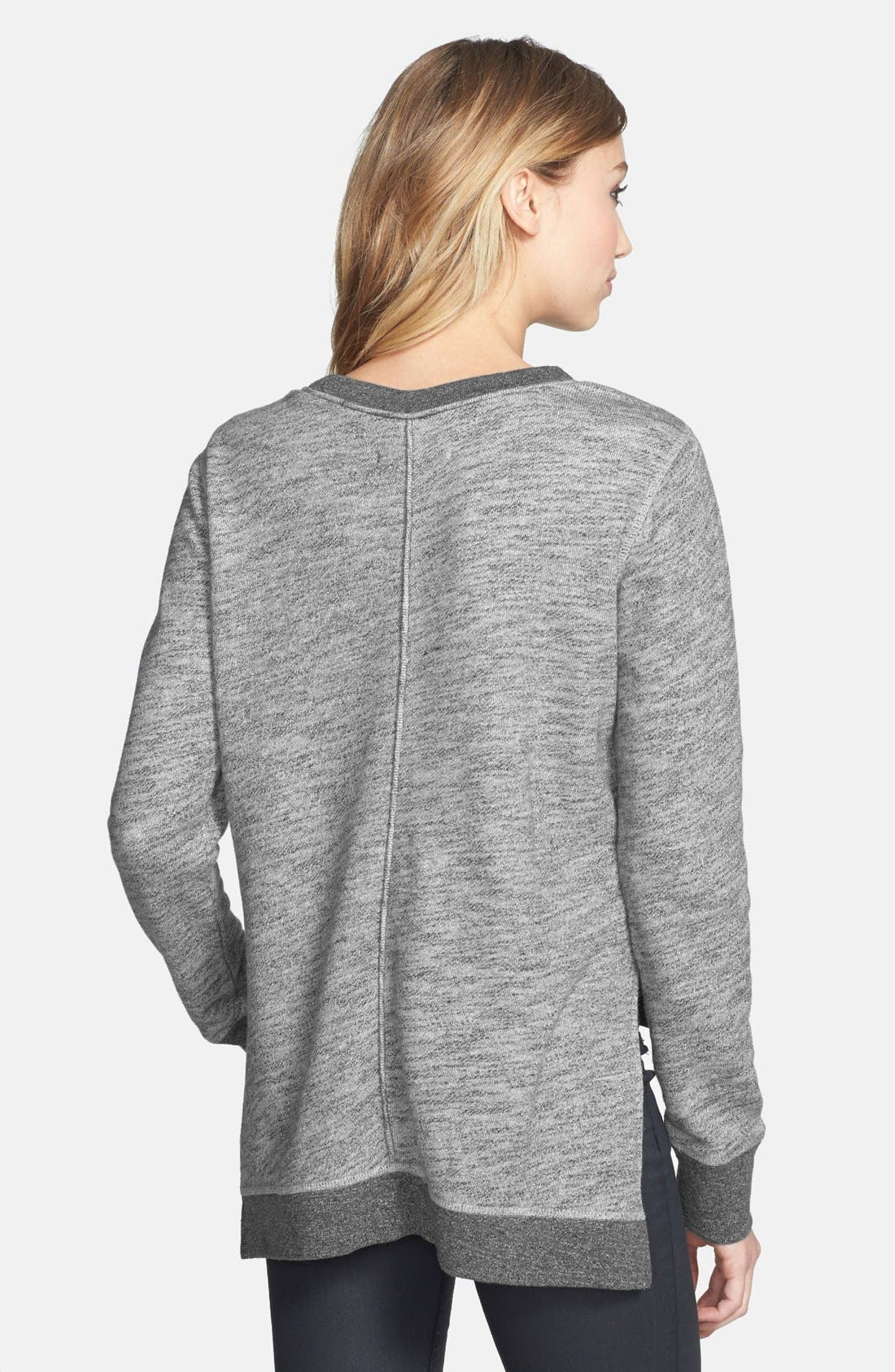Alternate Image 2  - rag & bone/JEAN High/Low Cotton Sweatshirt