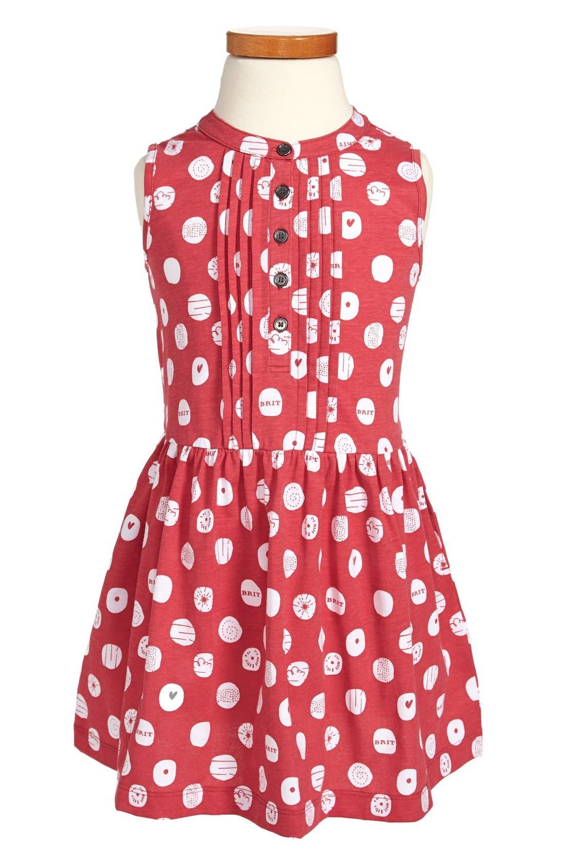 Alternate Image 1 Selected - Burberry Sleeveless Print Dress (Toddler Girls, Little Girls & Big Girls)