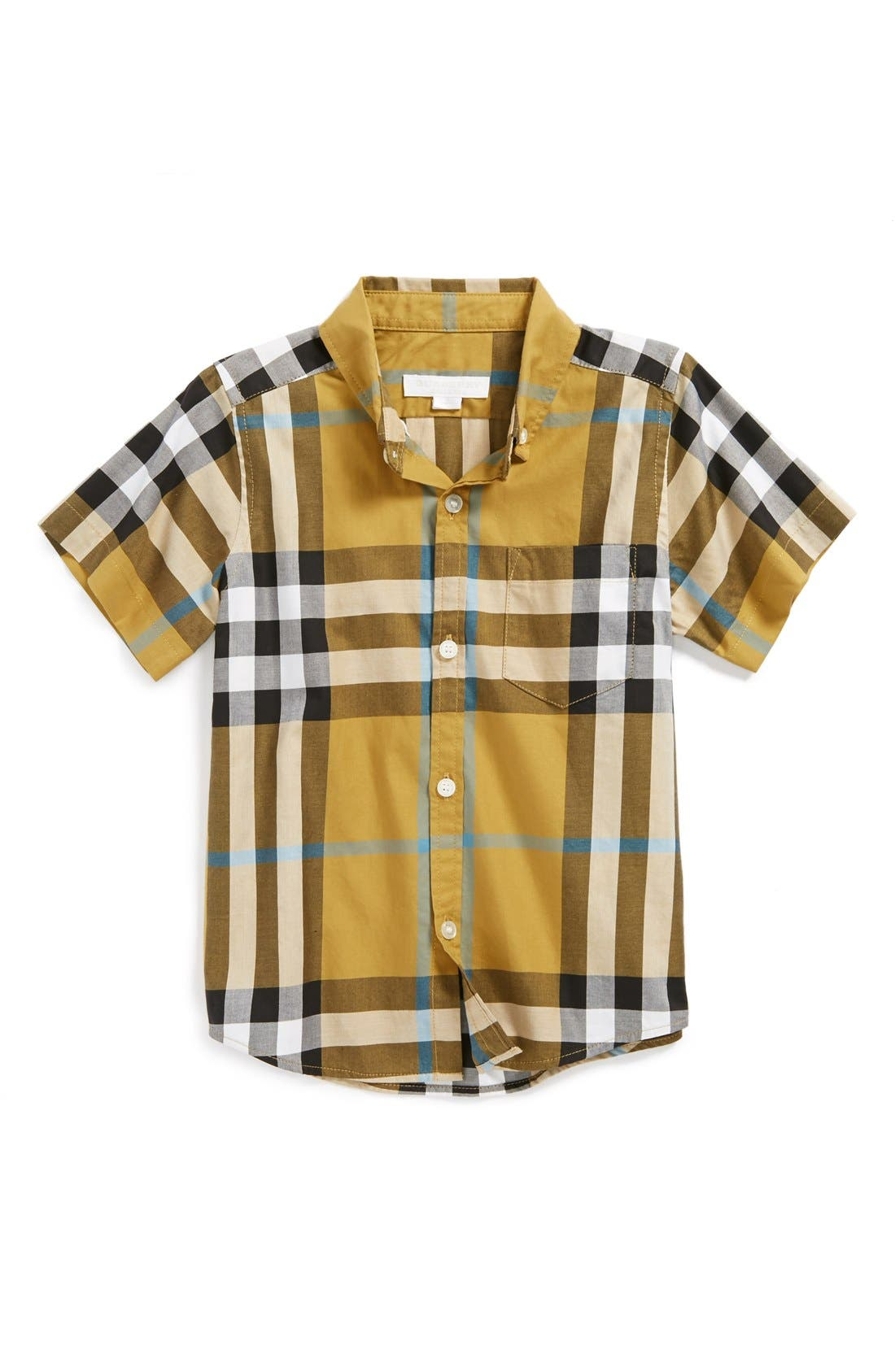 Alternate Image 1 Selected - Burberry 'Mini Fred' Woven Shirt (Baby Boys)