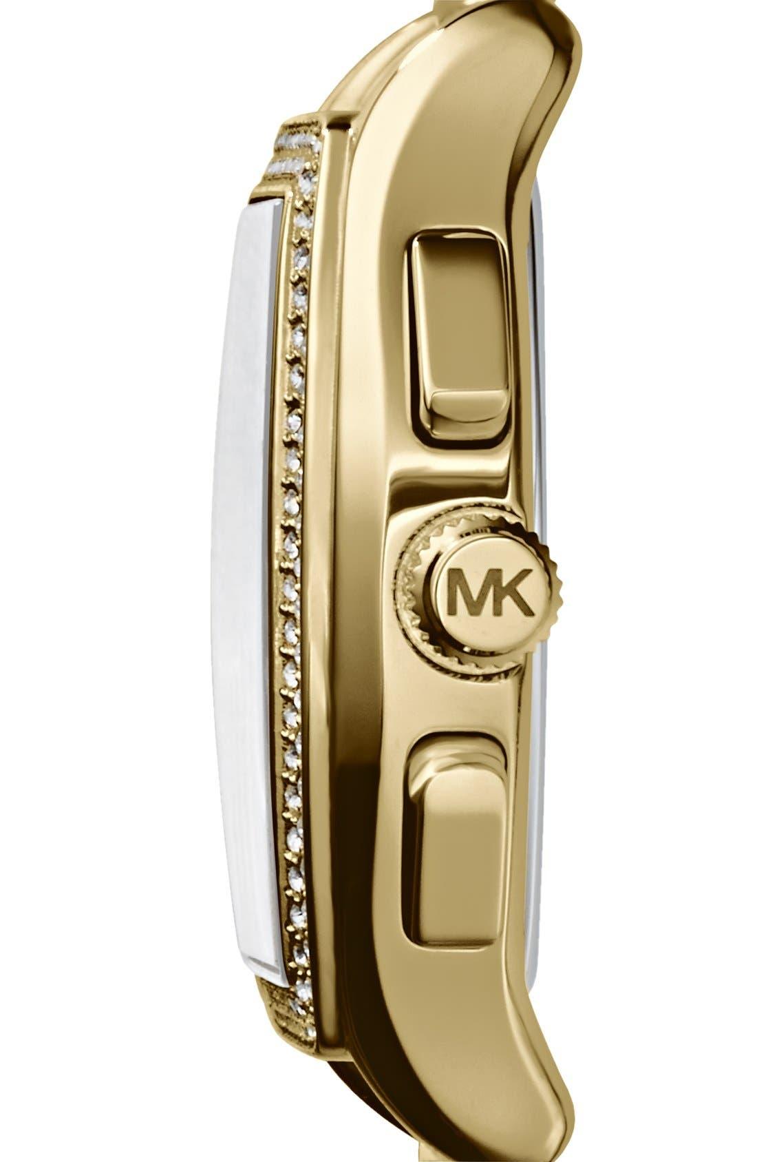 Alternate Image 2  - Michael Kors 'Amherst' Crystal Bezel Chronograph Bracelet Watch, 38mm