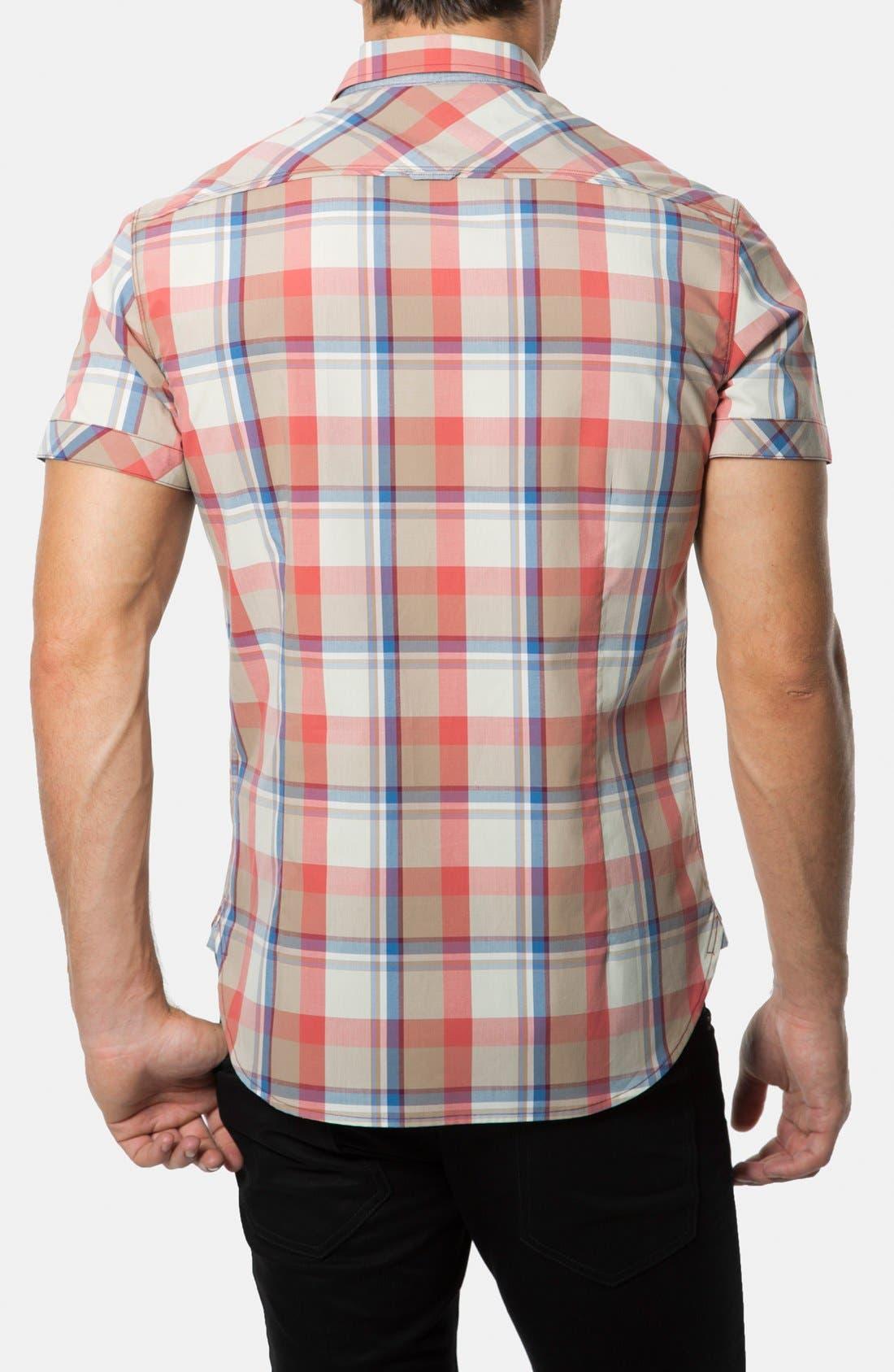 Alternate Image 2  - 7 Diamonds 'Age of Reason' Short Sleeve Plaid Sport Shirt