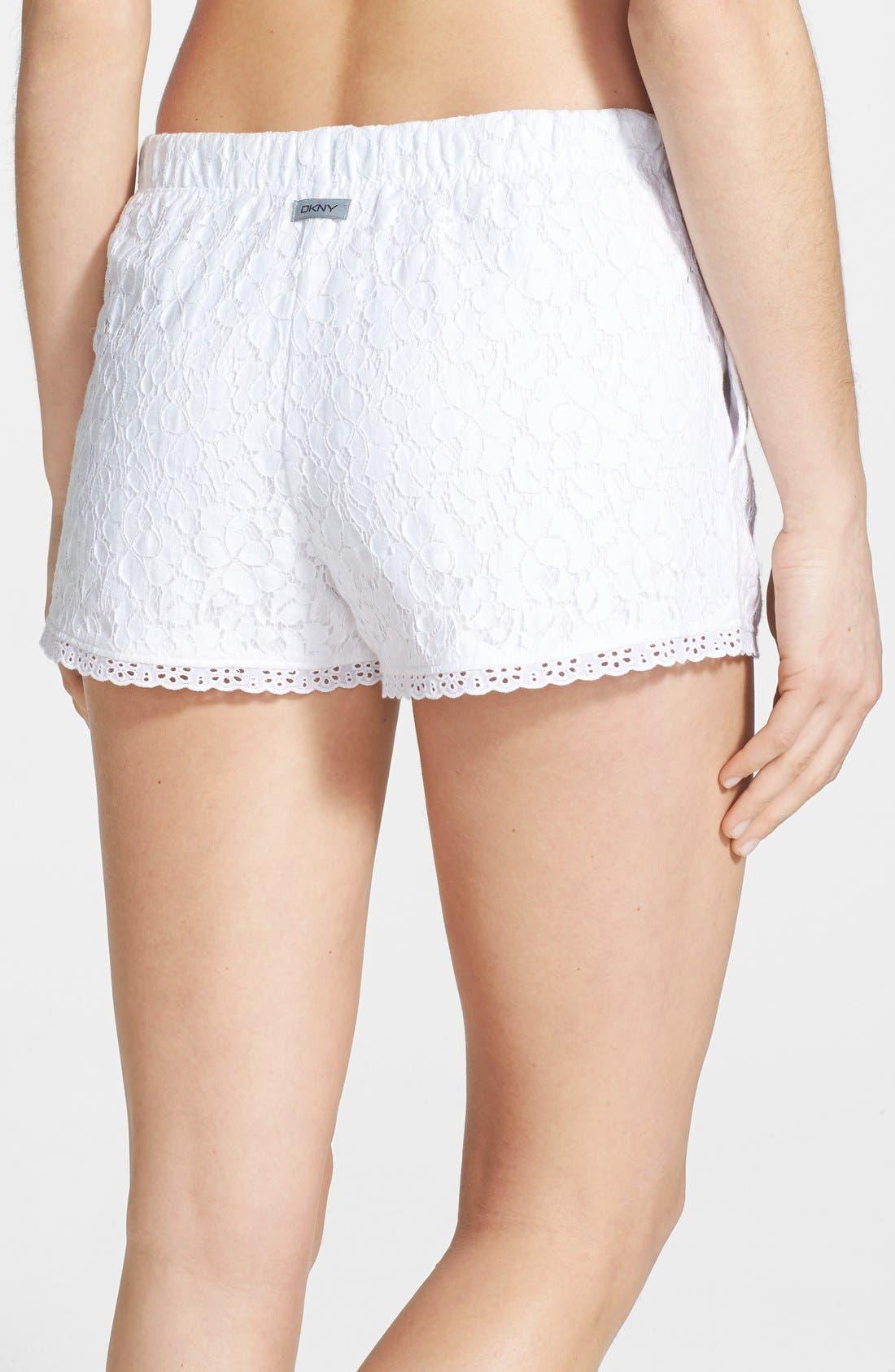 Alternate Image 2  - DKNY 'Pier Side' Floral Lace Boxer Shorts