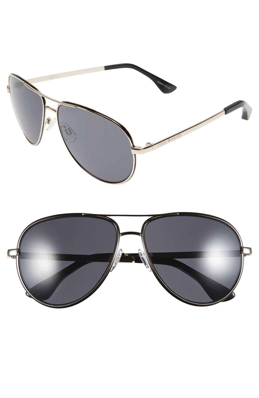 Main Image - Isaac Mizrahi New York 59mm Aviator Sunglasses