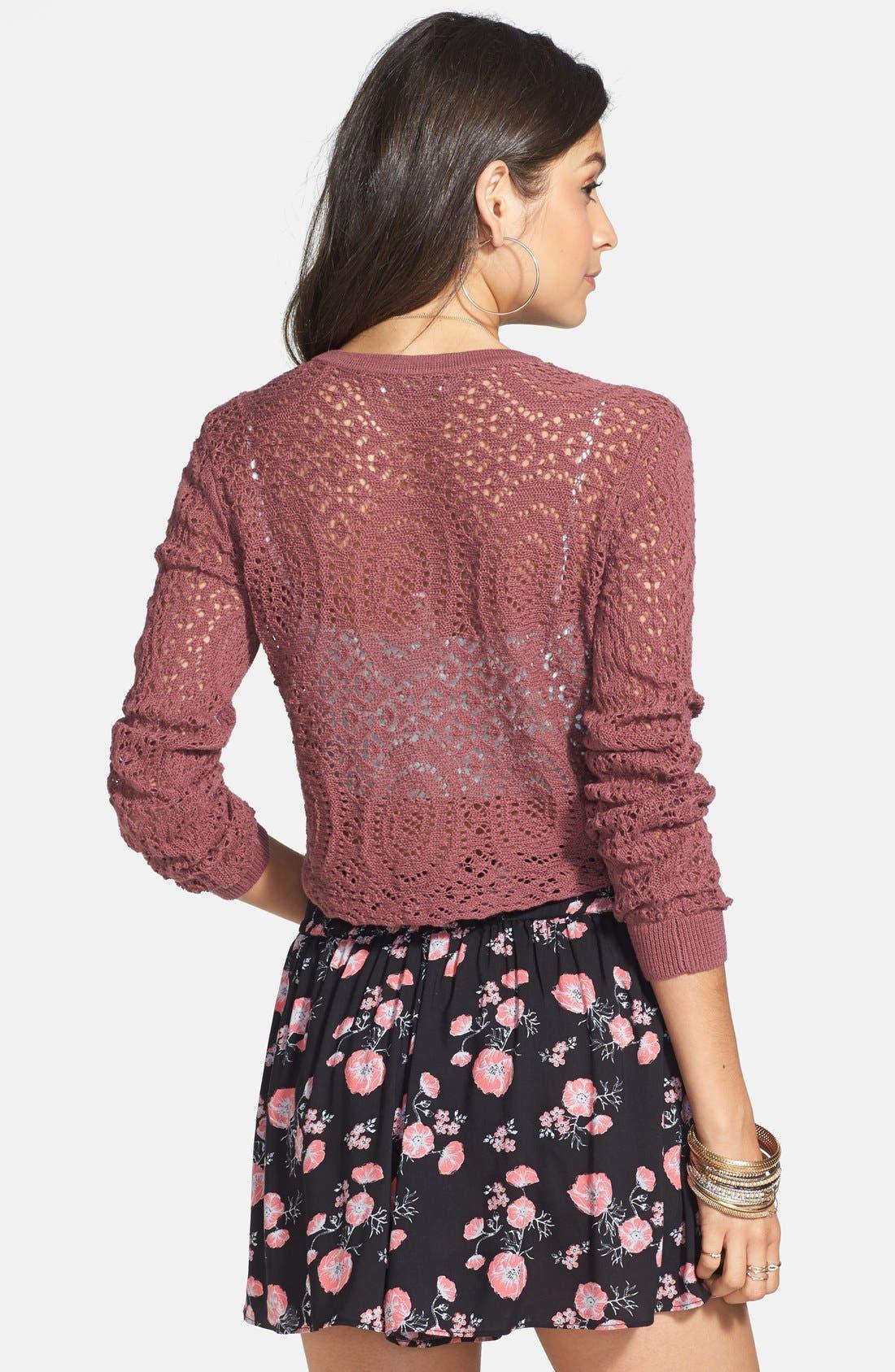 Alternate Image 2  - Rubbish® Floral Gathered Shorts (Juniors)