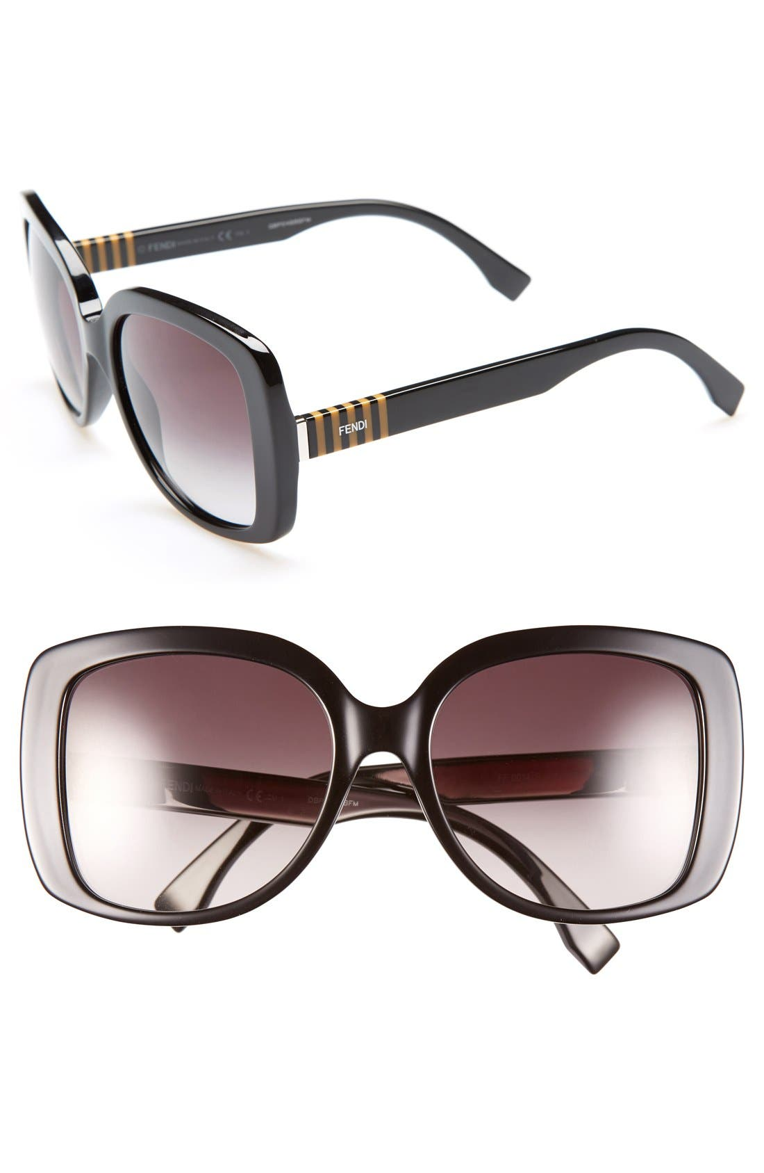 Alternate Image 1 Selected - Fendi 55mm Retro Sunglasses