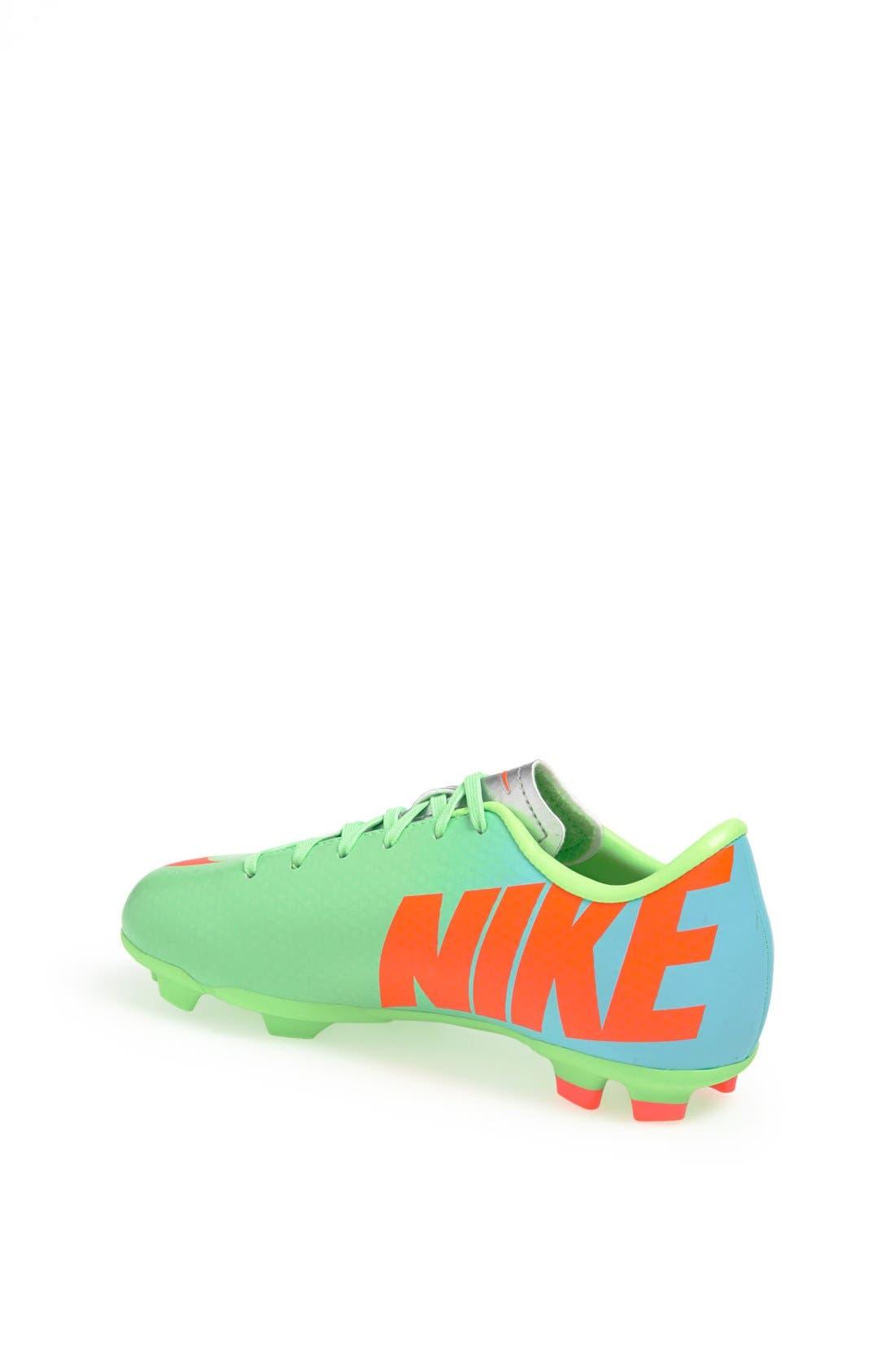 Alternate Image 2  - Nike 'Jr. Mercurial Victory' Soccer Cleat (Little Kid & Big Kid)