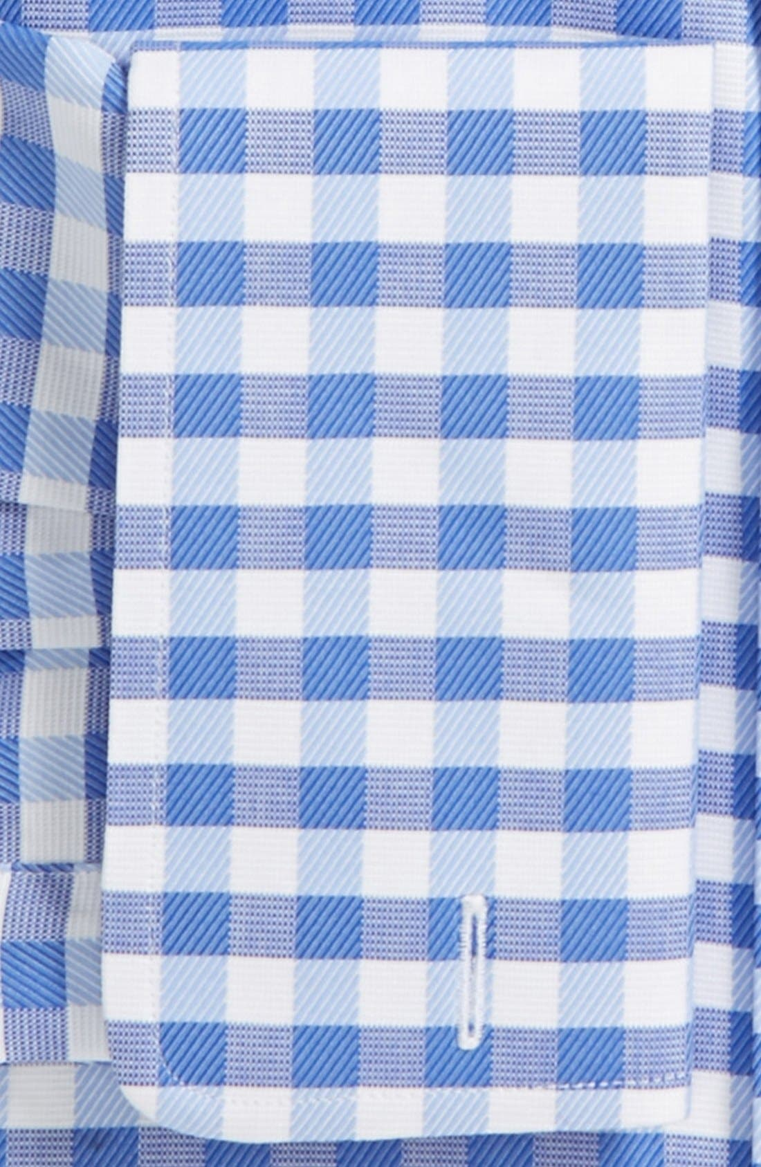 Alternate Image 2  - David Donahue Fancy Twill Check Trim Fit Dress Shirt