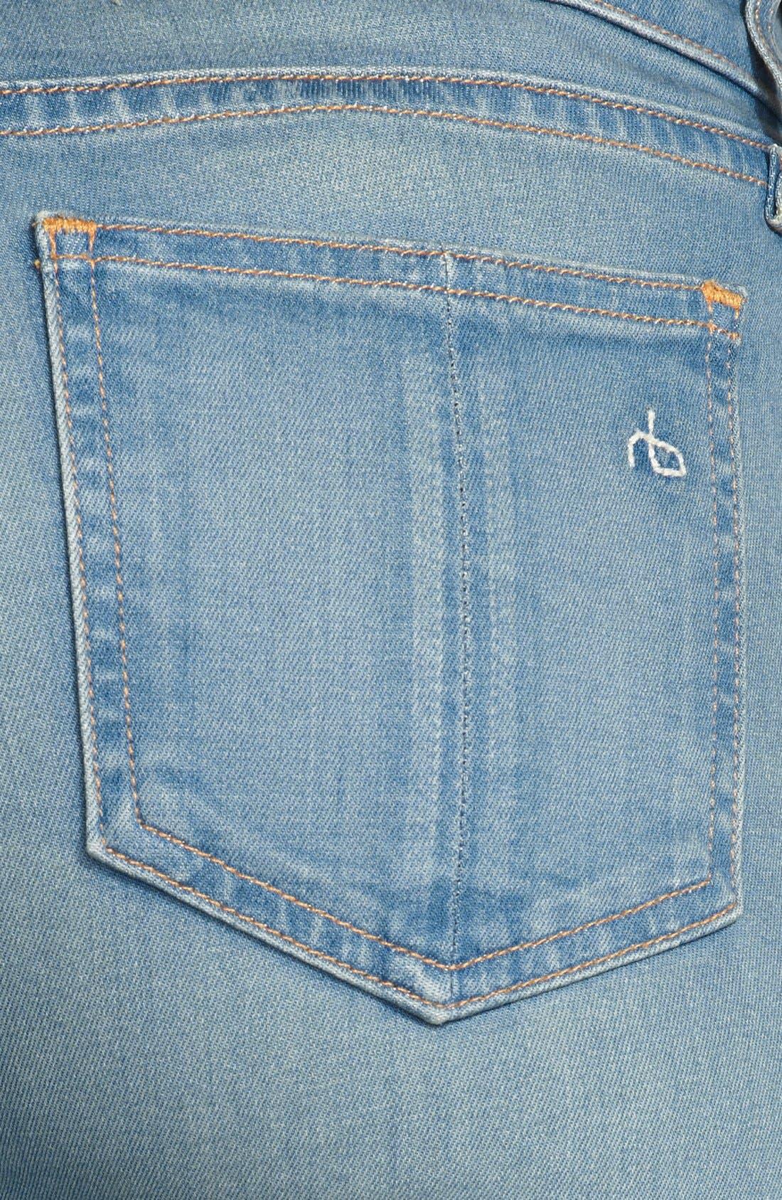 Alternate Image 3  - rag & bone/JEAN High Rise Skinny Jeans (Calvary)