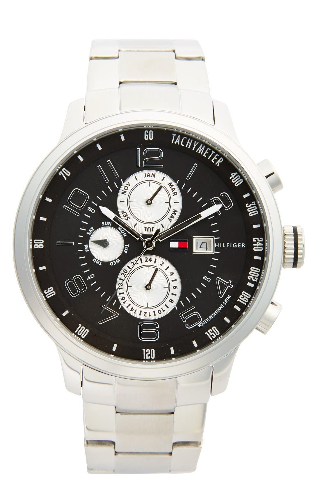 Main Image - Tommy Hilfiger 'Sport' Chronograph Bracelet Watch, 45mm