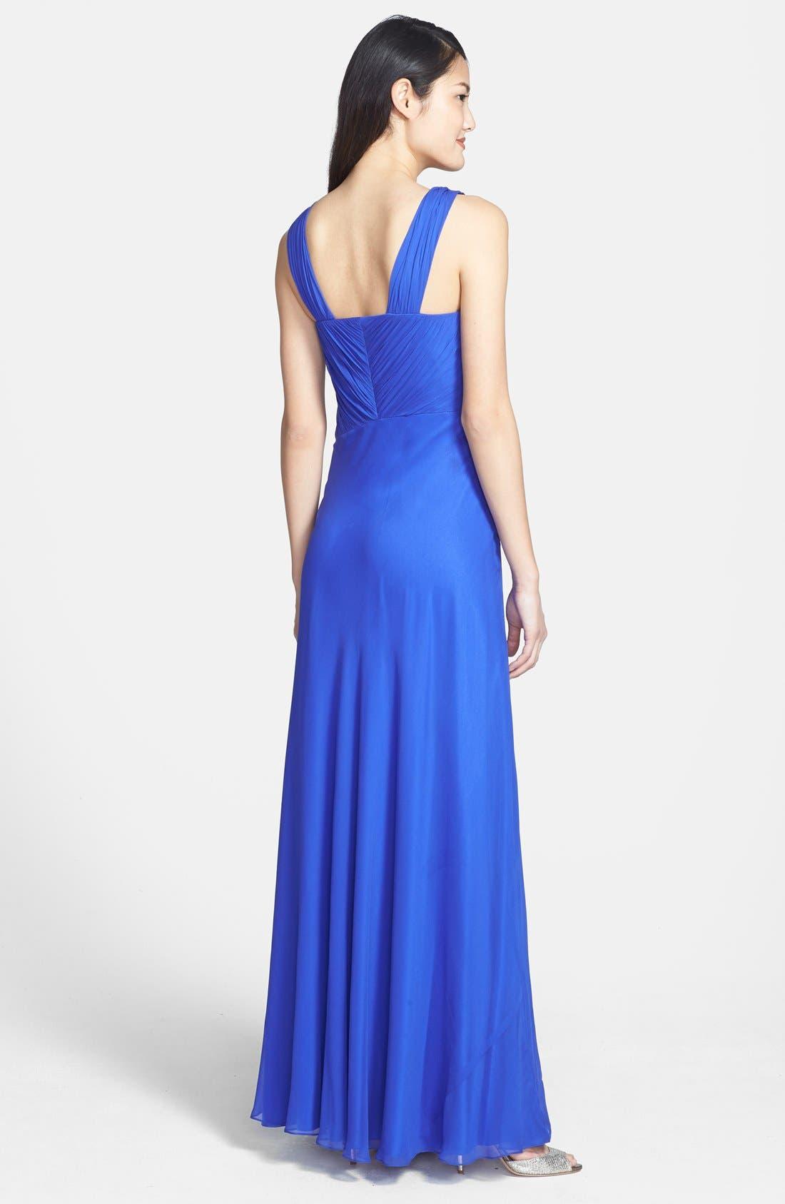 Alternate Image 2  - Vera Wang Knotted Chiffon Gown