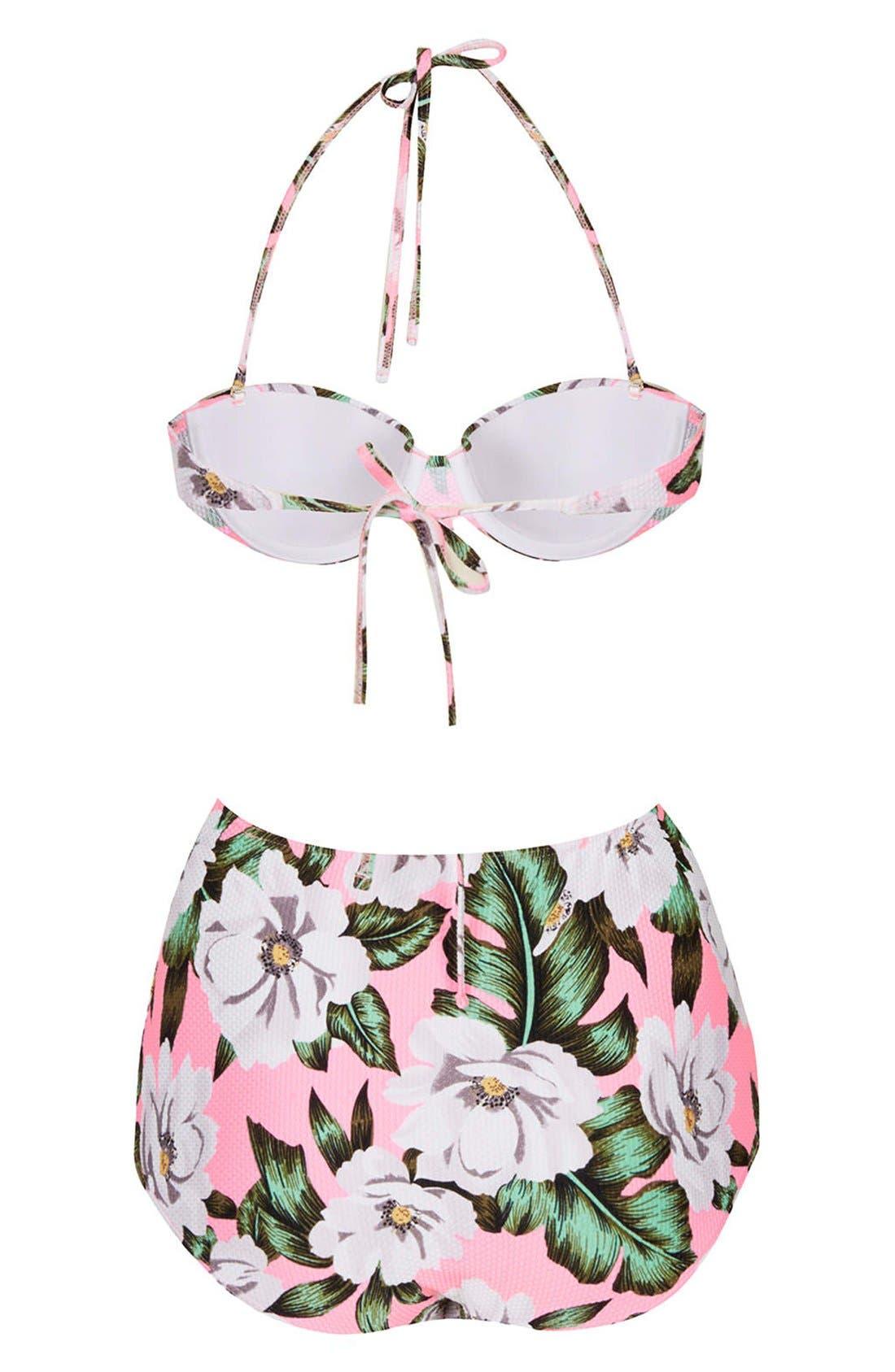 Alternate Image 2  - Topshop 'Aloha' Print Floral Bikini