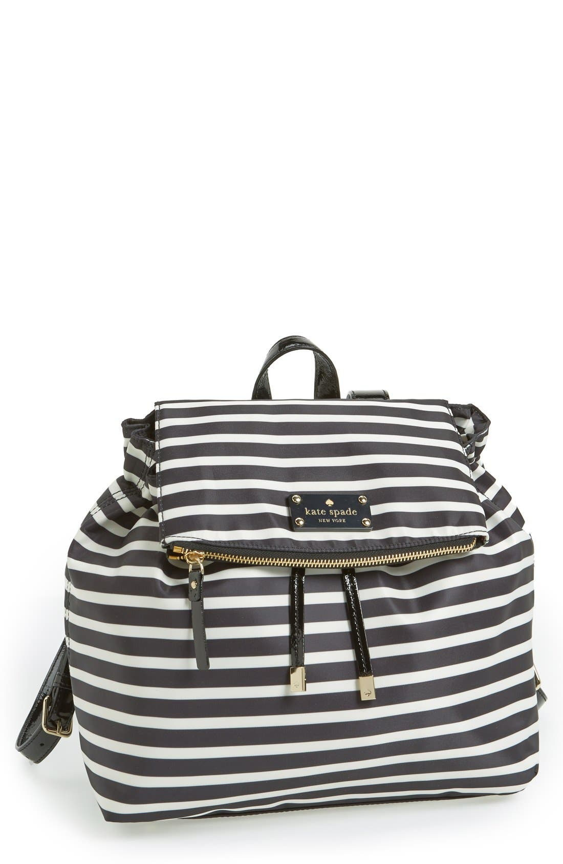 Alternate Image 1 Selected - kate spade new york 'pattern' stripe backpack