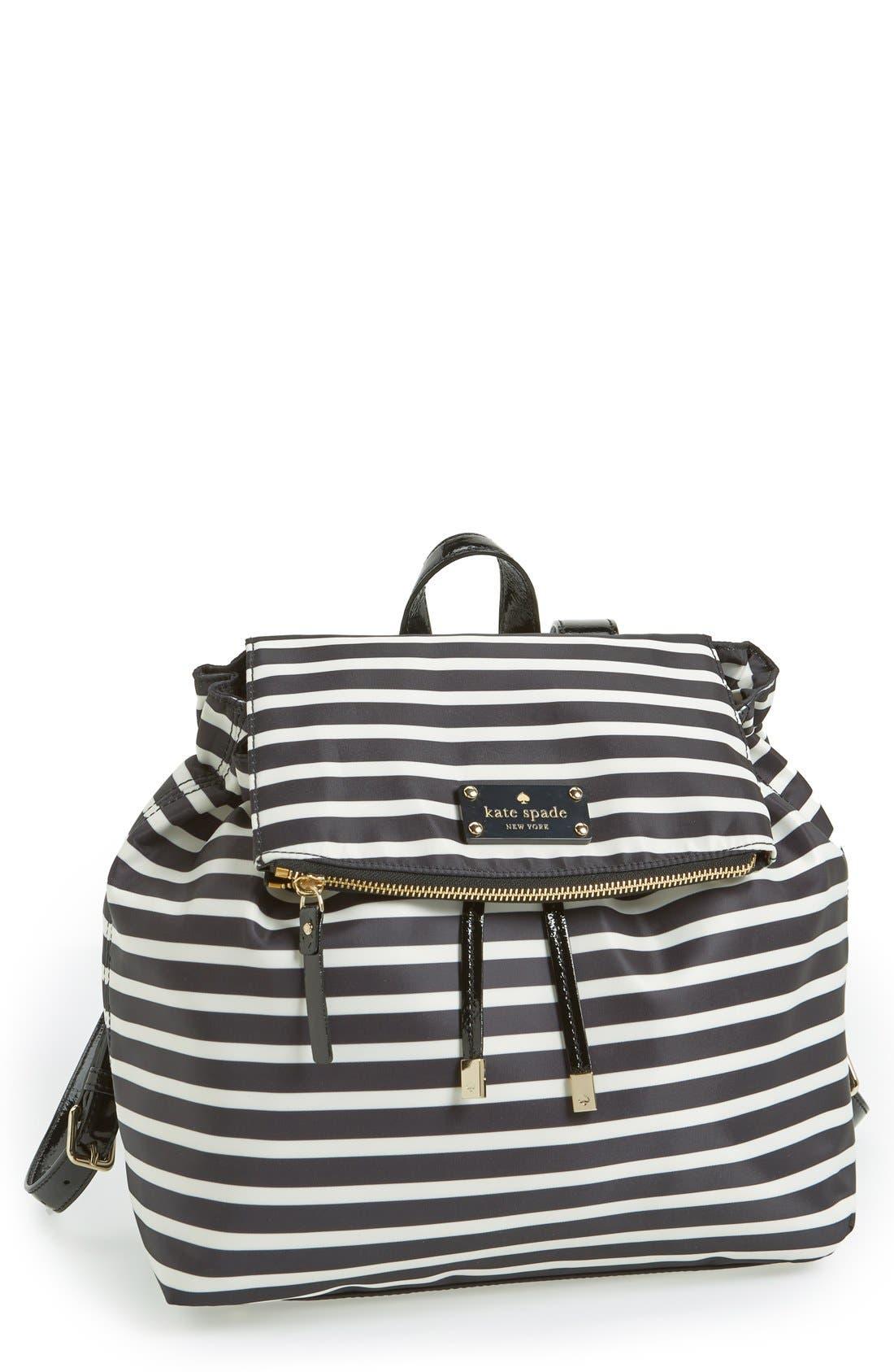 Main Image - kate spade new york 'pattern' stripe backpack