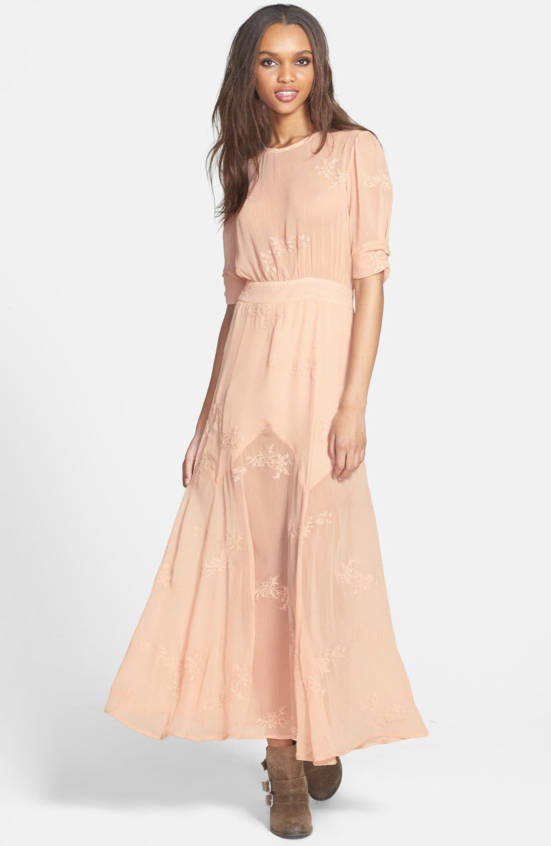 Main Image - June & Hudson Embroidered Maxi Dress