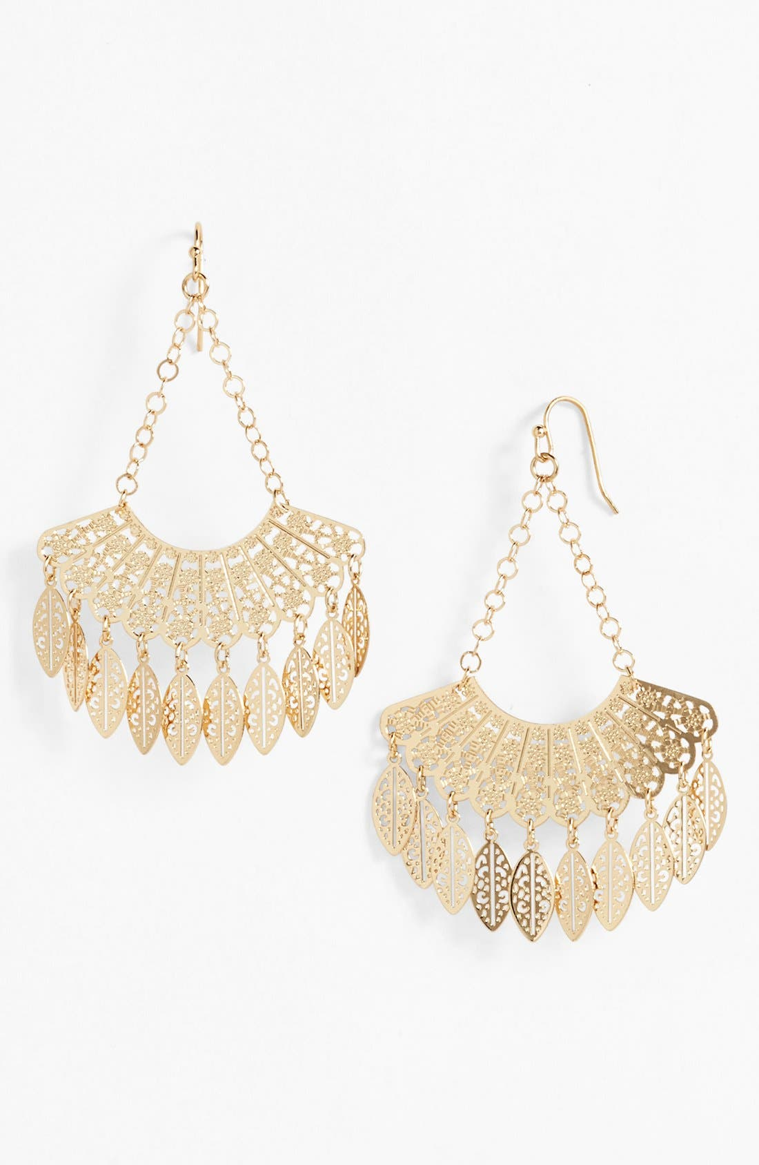 Main Image - Nordstrom 'Delicate Lace' Fan Drop Earrings