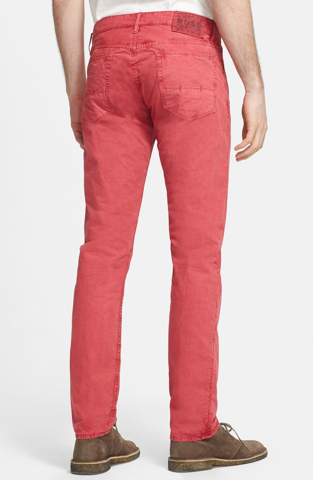 Alternate Image 2  - Polo Ralph Lauren Slim Fit Poplin Pants (Nantucket Red)