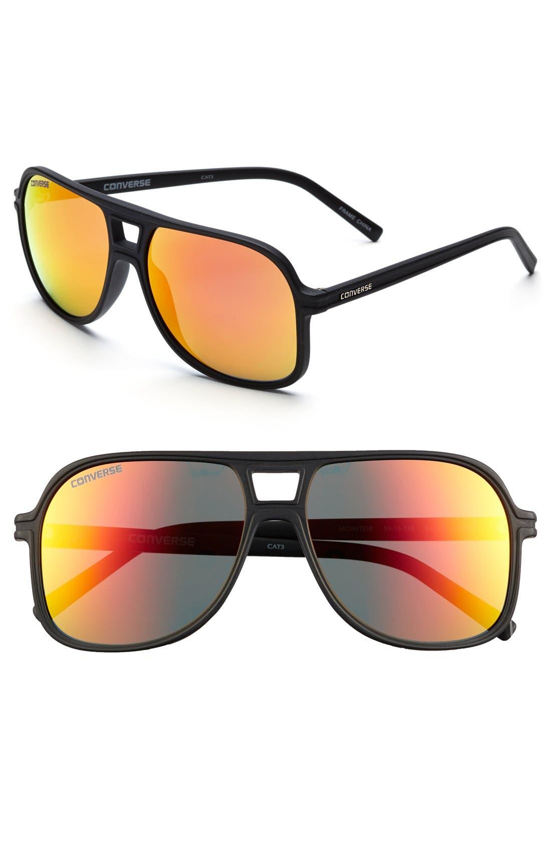 Alternate Image 1 Selected - Converse 'Monitor' 58mm Aviator Sunglasses