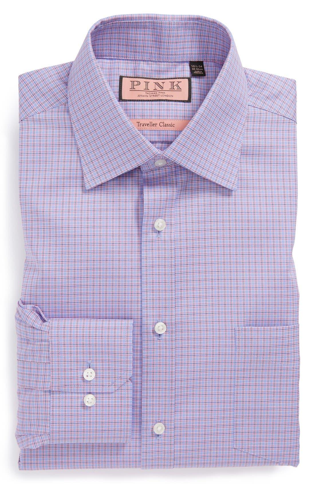 Alternate Image 1 Selected - Thomas Pink Classic Fit Traveller Dress Shirt