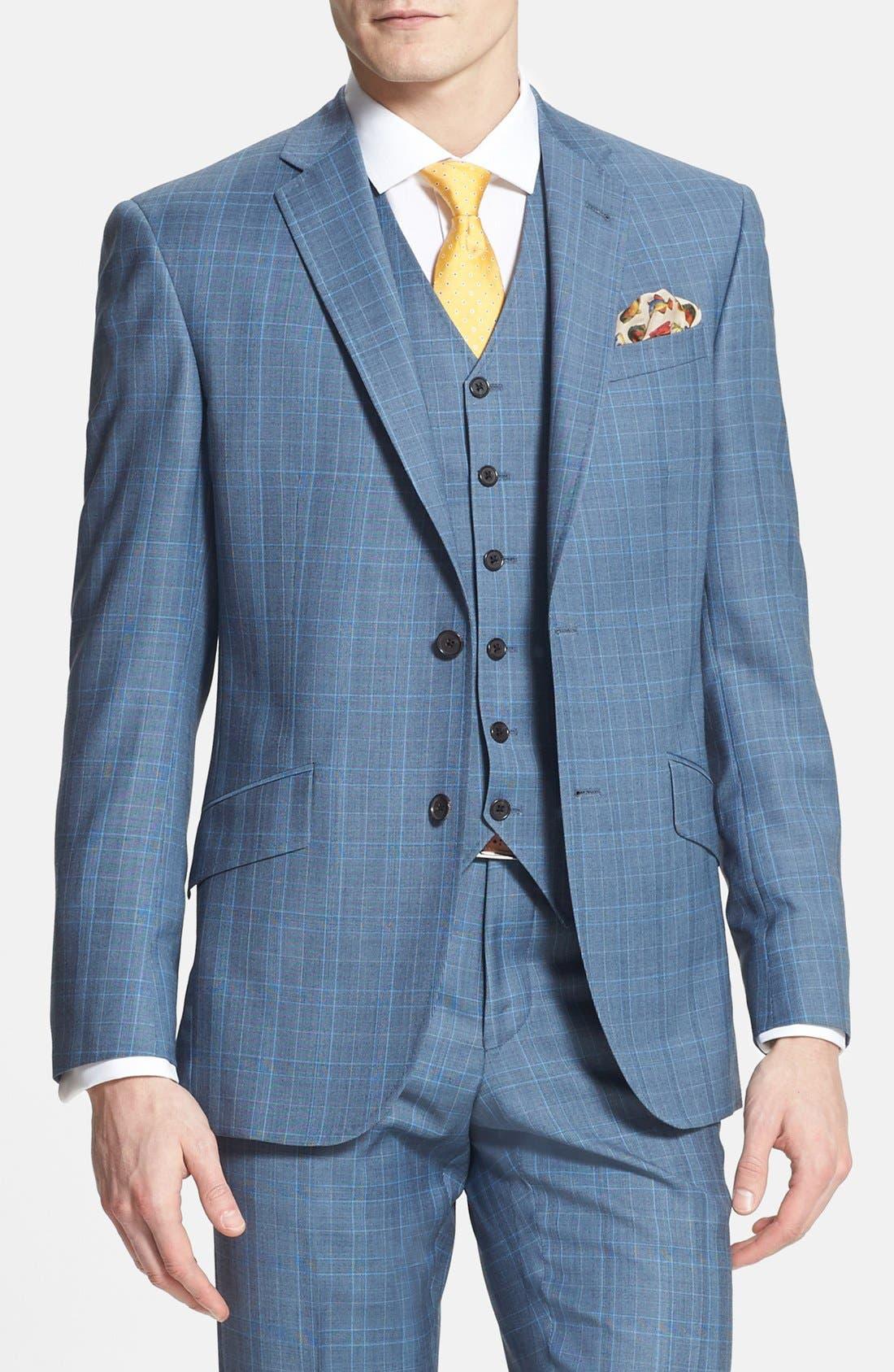 Alternate Image 3  - Ted Baker London 'Jones' Trim Fit Three-Piece Wool Suit