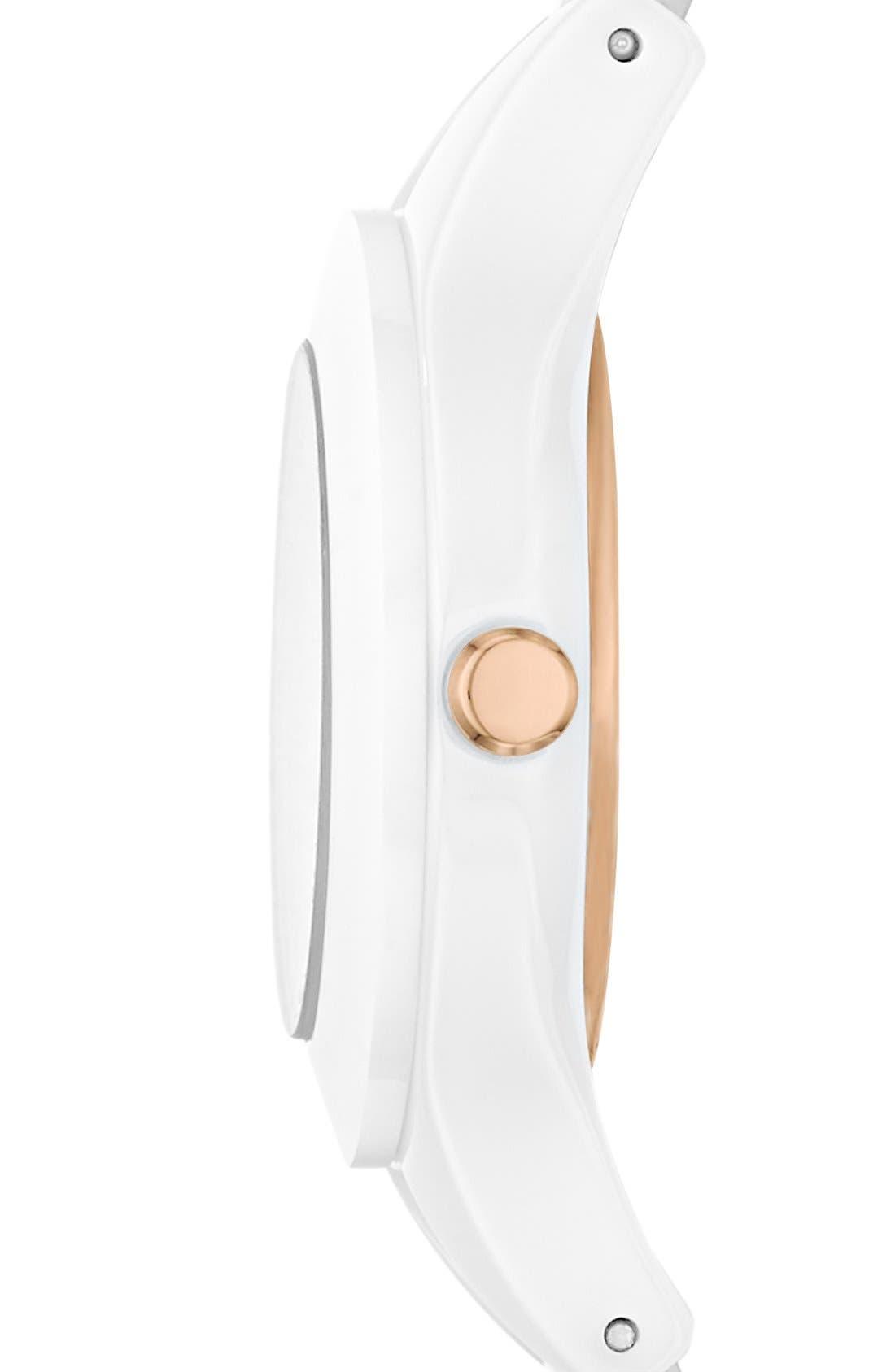 Alternate Image 3  - Emporio Armani Ceramic Bracelet Watch, 26mm