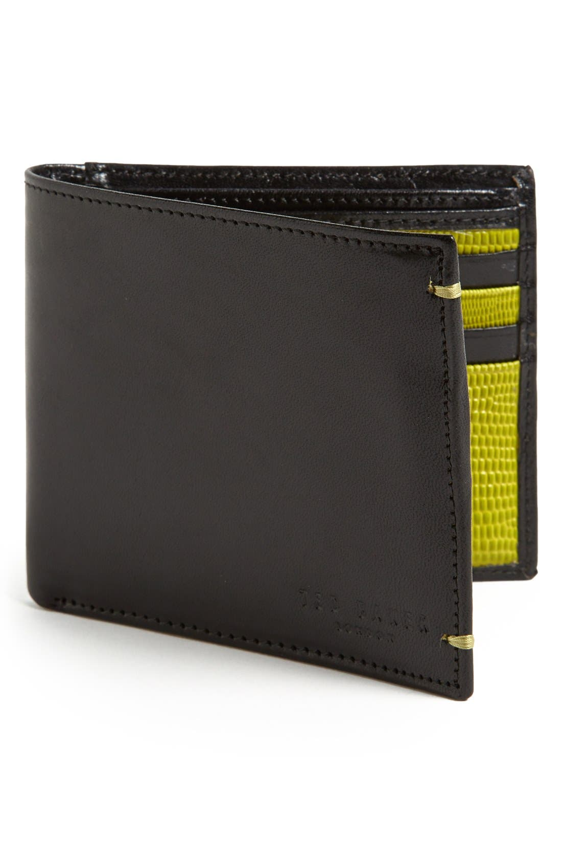 Main Image - Ted Baker London Leather Bifold Wallet