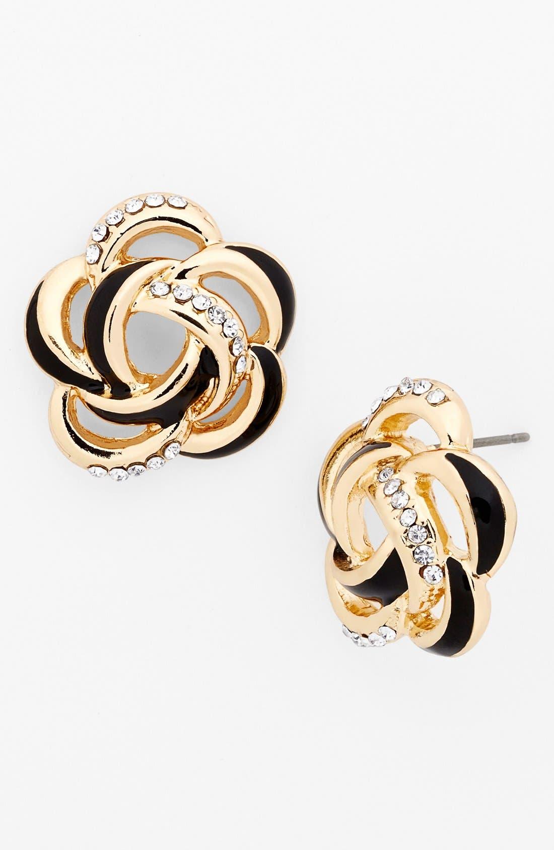 Alternate Image 1 Selected - Anne Klein Floral Stud Earrings