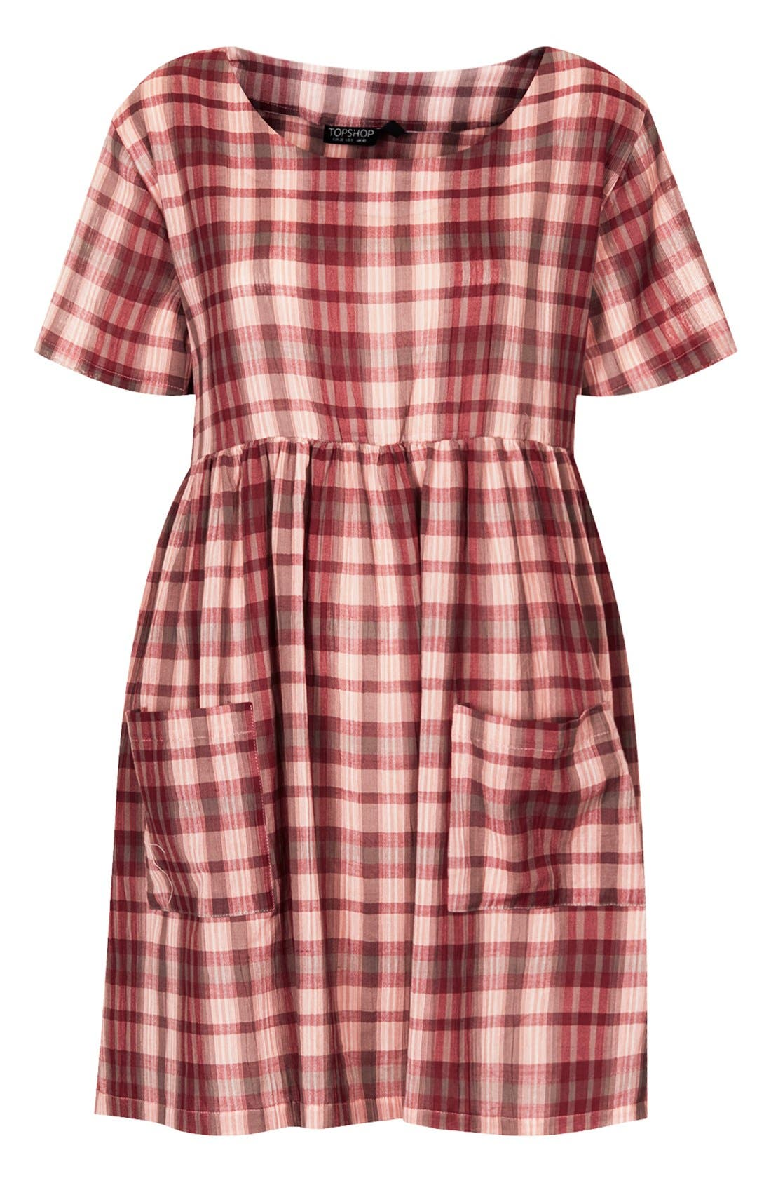 Alternate Image 3  - Topshop Plaid Cotton Smock Dress