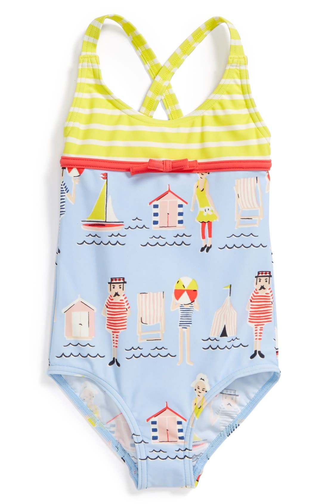Alternate Image 1 Selected - Mini Boden 'Hotchpotch' One-Piece Swimsuit (Toddler Girls)